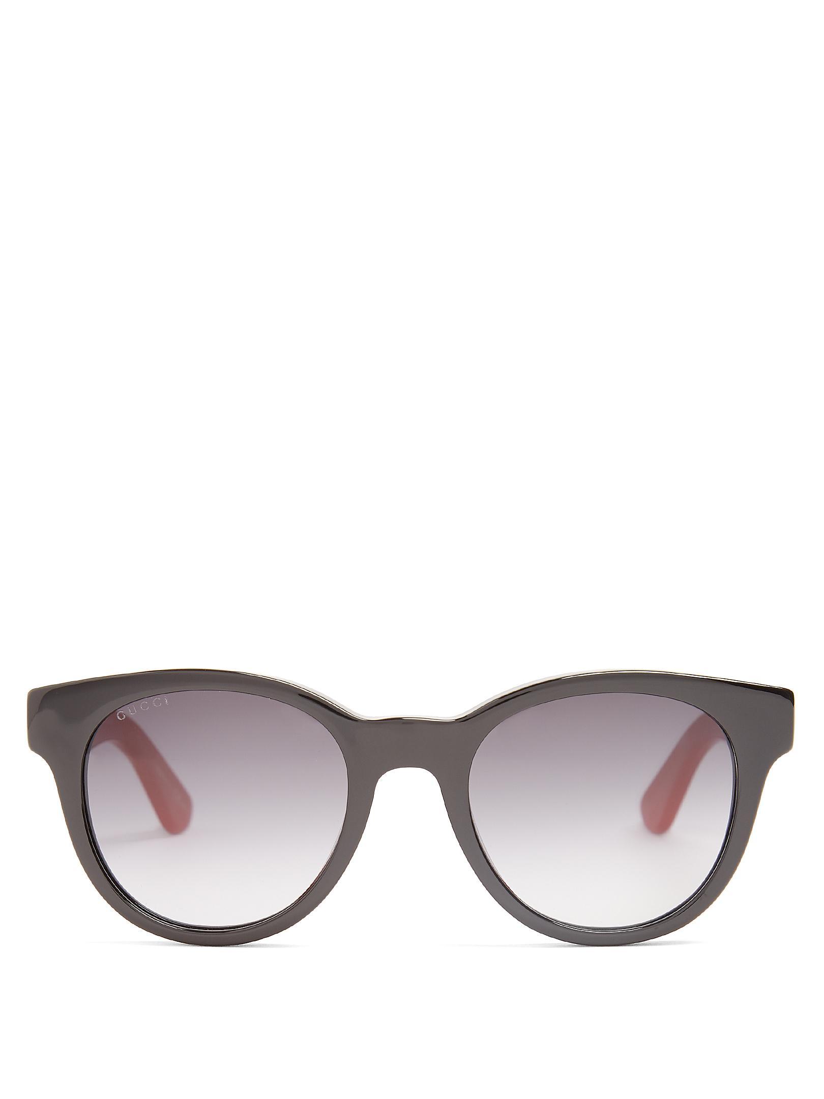 ef3756b5cc3 Gucci Round-frame Acetate Sunglasses Mens