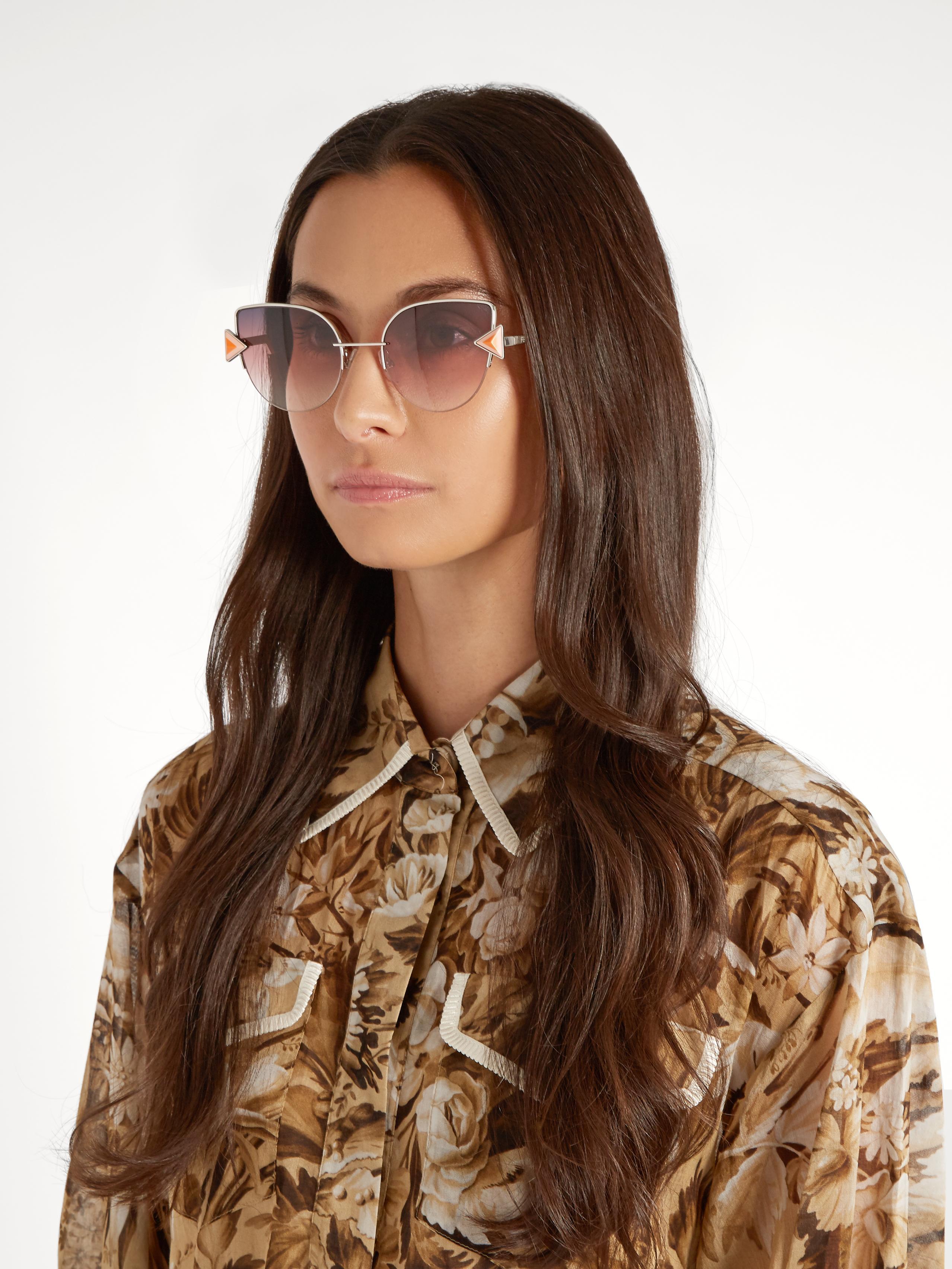 119cb713bd Fendi Rainbow Cat-eye Sunglasses in Blue - Lyst