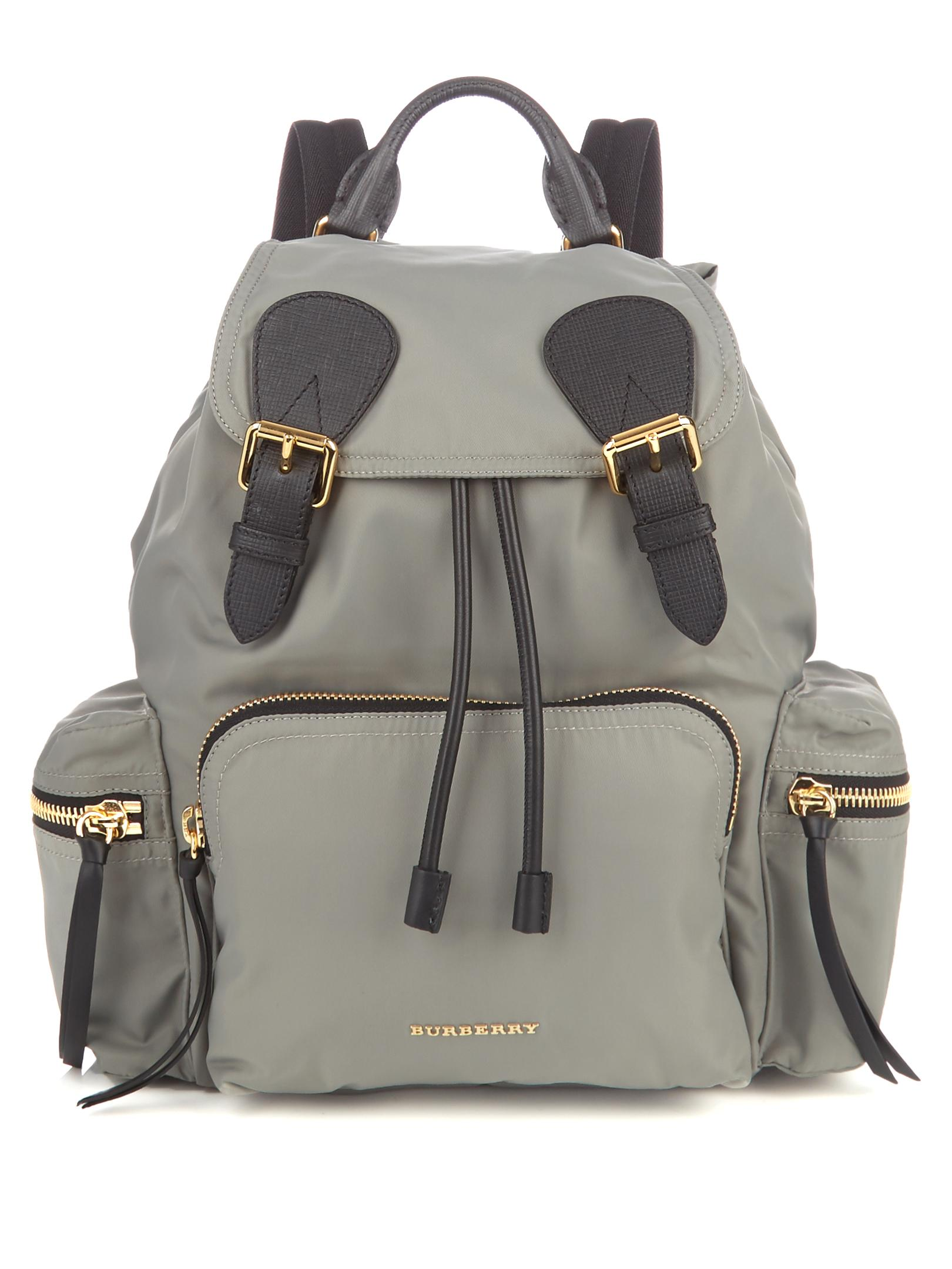 lyst burberry medium nylon backpack in gray