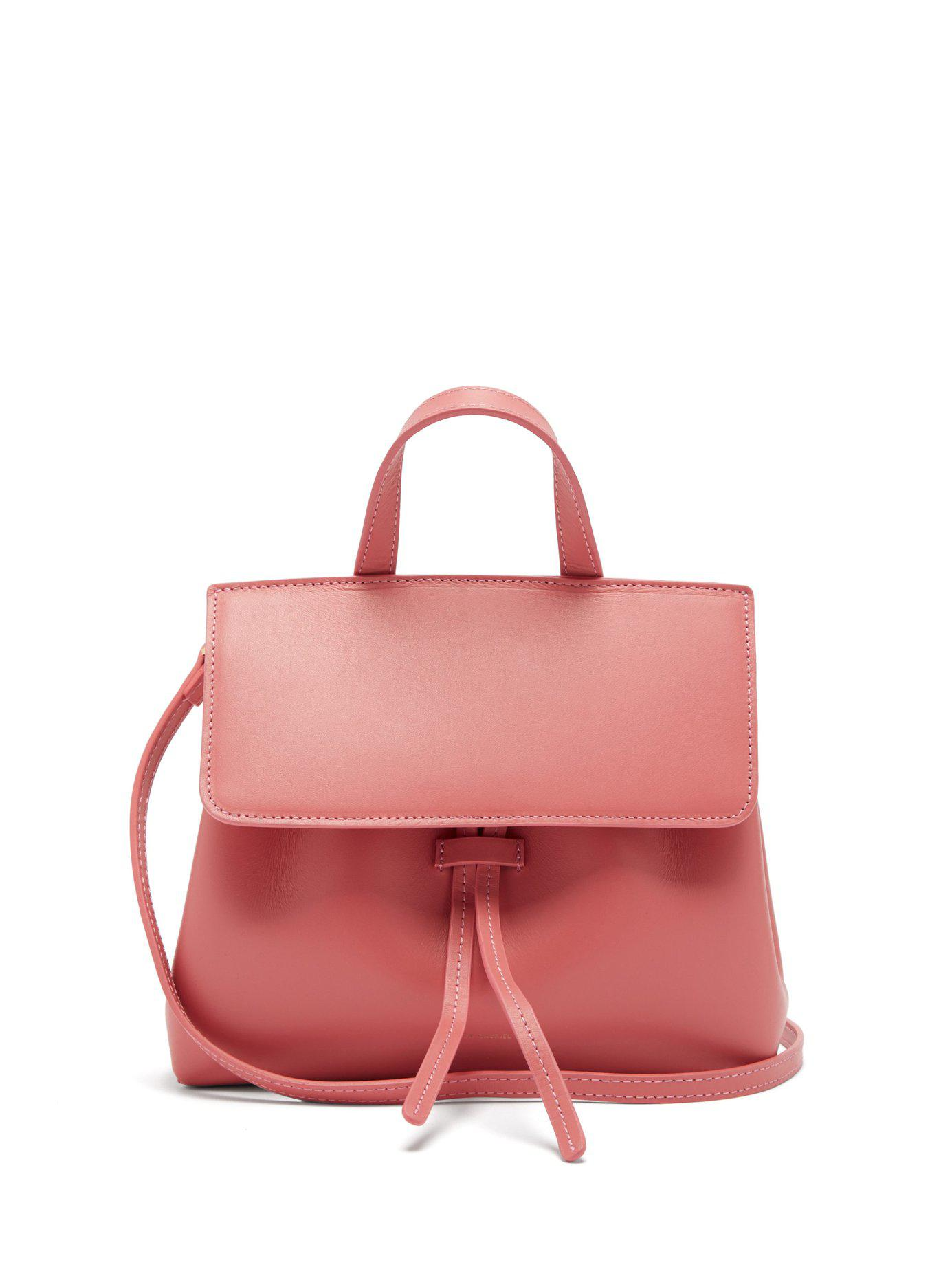 ac2633b9858 Lyst - Mansur Gavriel Mini Mini Lady Leather Cross Body Bag in Pink