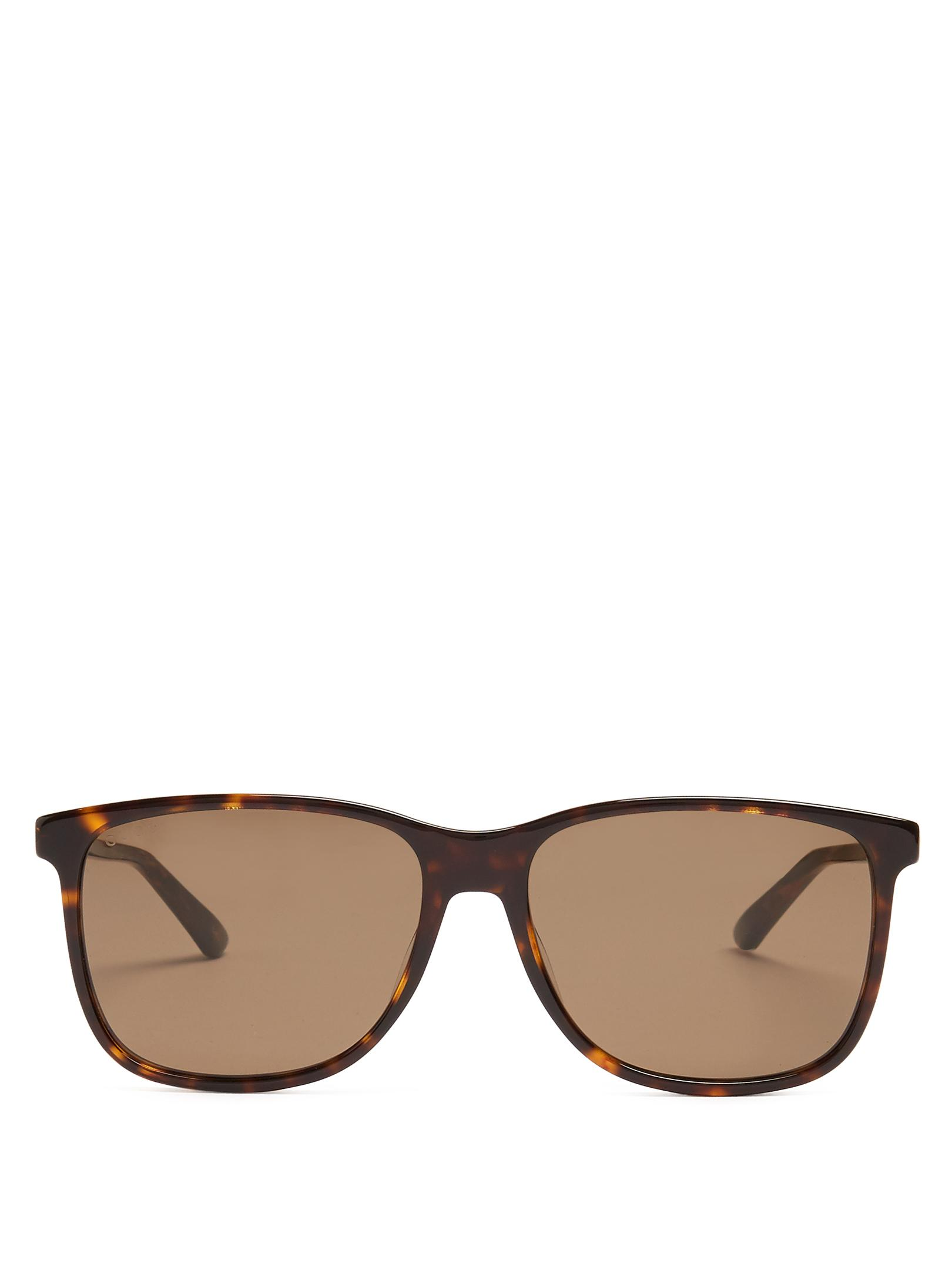 9973d31ea8 Gucci Square-frame Acetate Sunglasses in Brown for Men