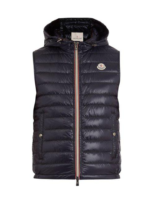 db11f02b63a7 Moncler Gien Quilted Down Gilet in Blue for Men - Lyst