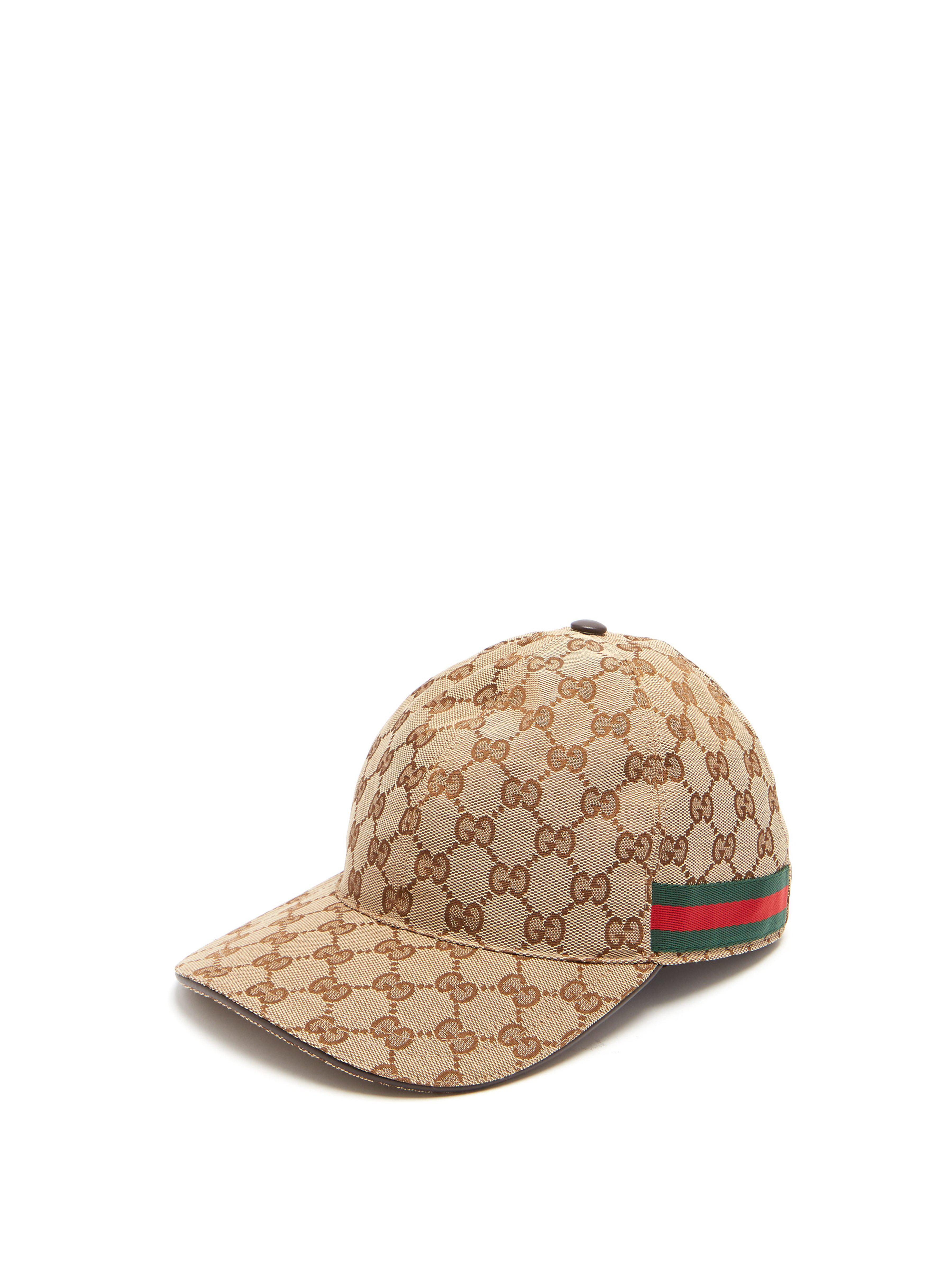e9408be1358 Gucci Web Stripe Gg Logo Baseball Cap for Men - Save 20% - Lyst