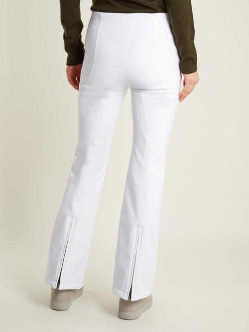 Lyst - Fendi High-rise Kick-flare Technical Ski Trousers in White 0c00cd1c2
