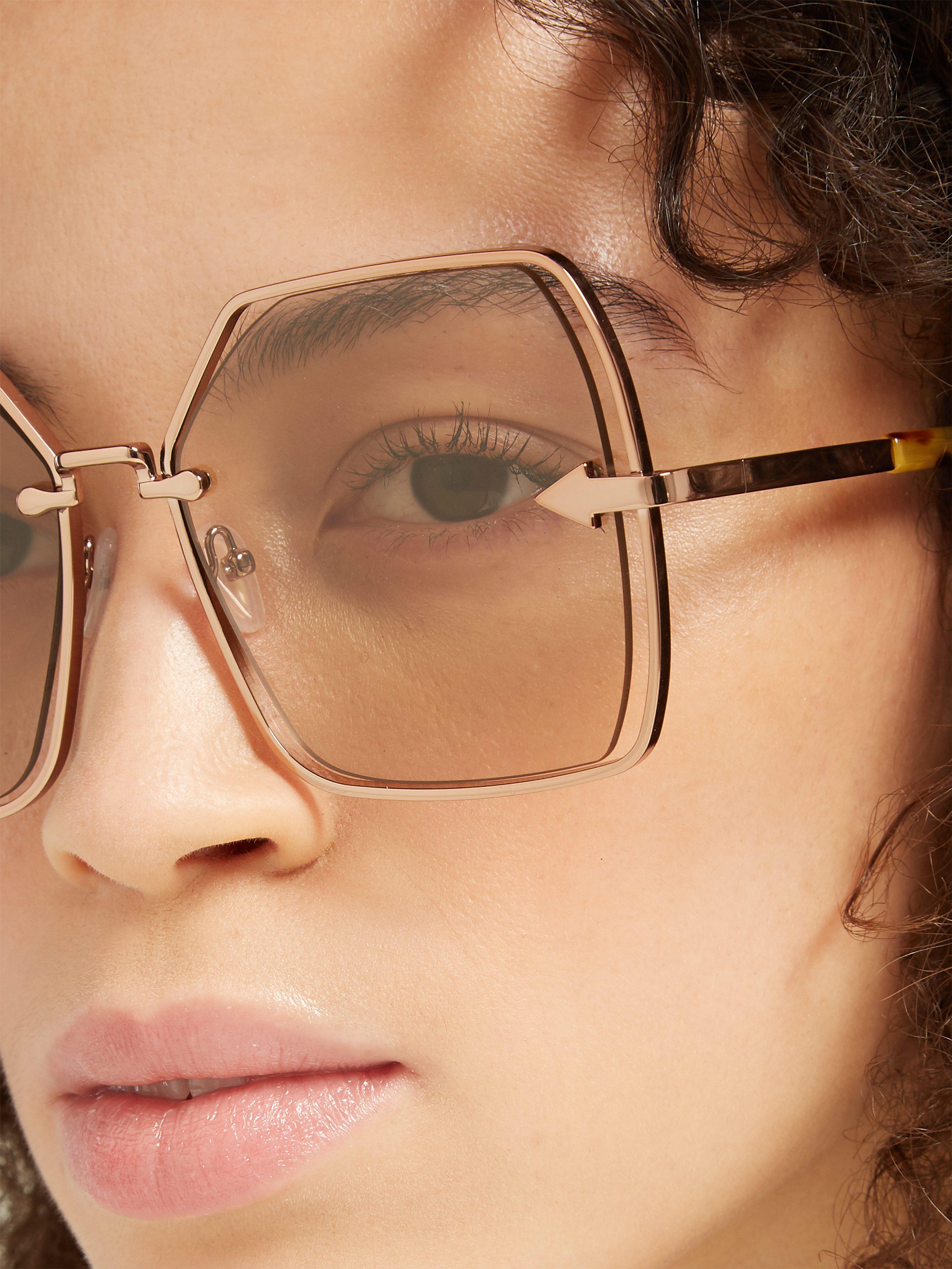 7ba3ad5502 Karen Walker - Brown Nirvana Gold Oversized Square Sunglasses - Lyst. View  fullscreen