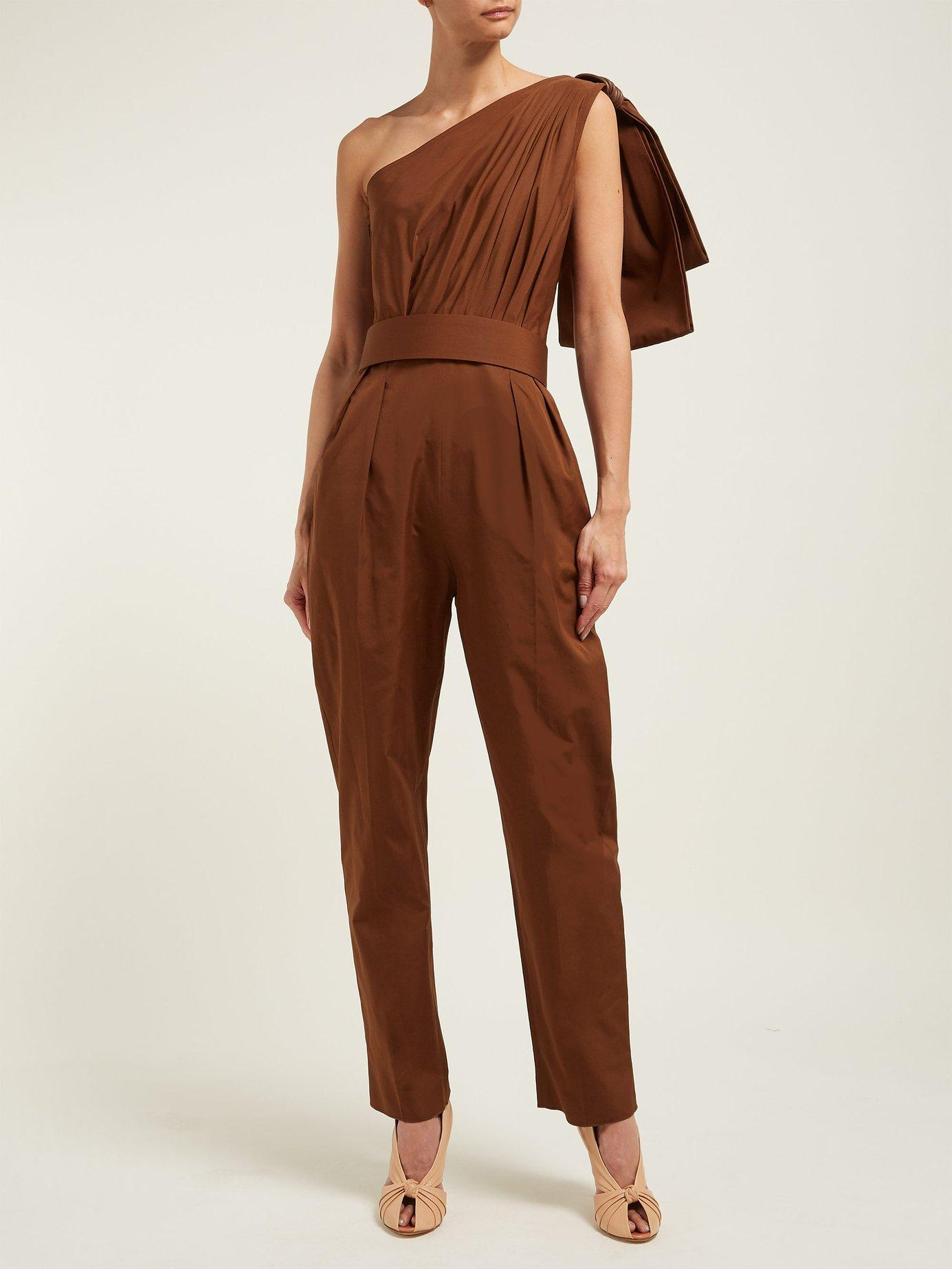 16377819a55 Max Mara - Brown Avola Jumpsuit - Lyst. View fullscreen