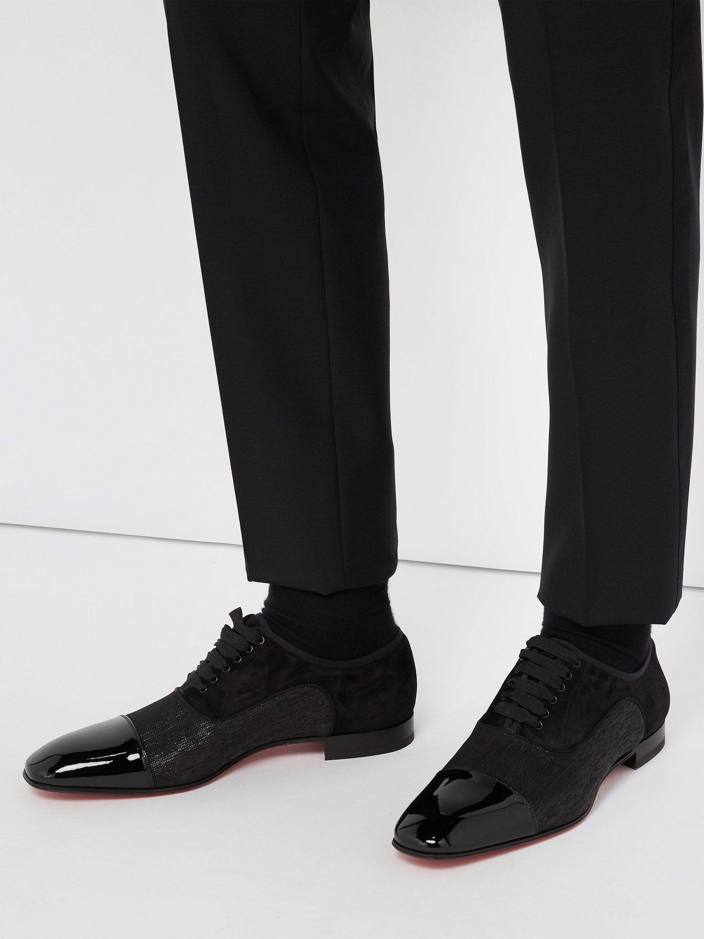 2fb083ebc2d Lyst - Christian Louboutin Greggo Orlato Patent Leather Oxford Shoes in  Black for Men