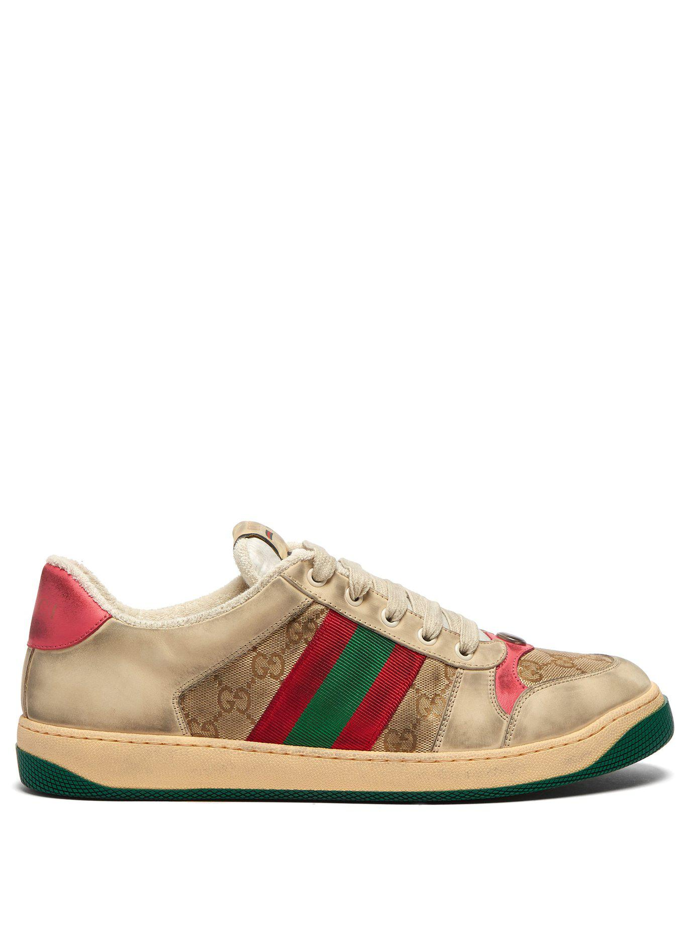 6f462f2c3ab Lyst - Gucci Screener Gg Supreme Leather Trainers for Men