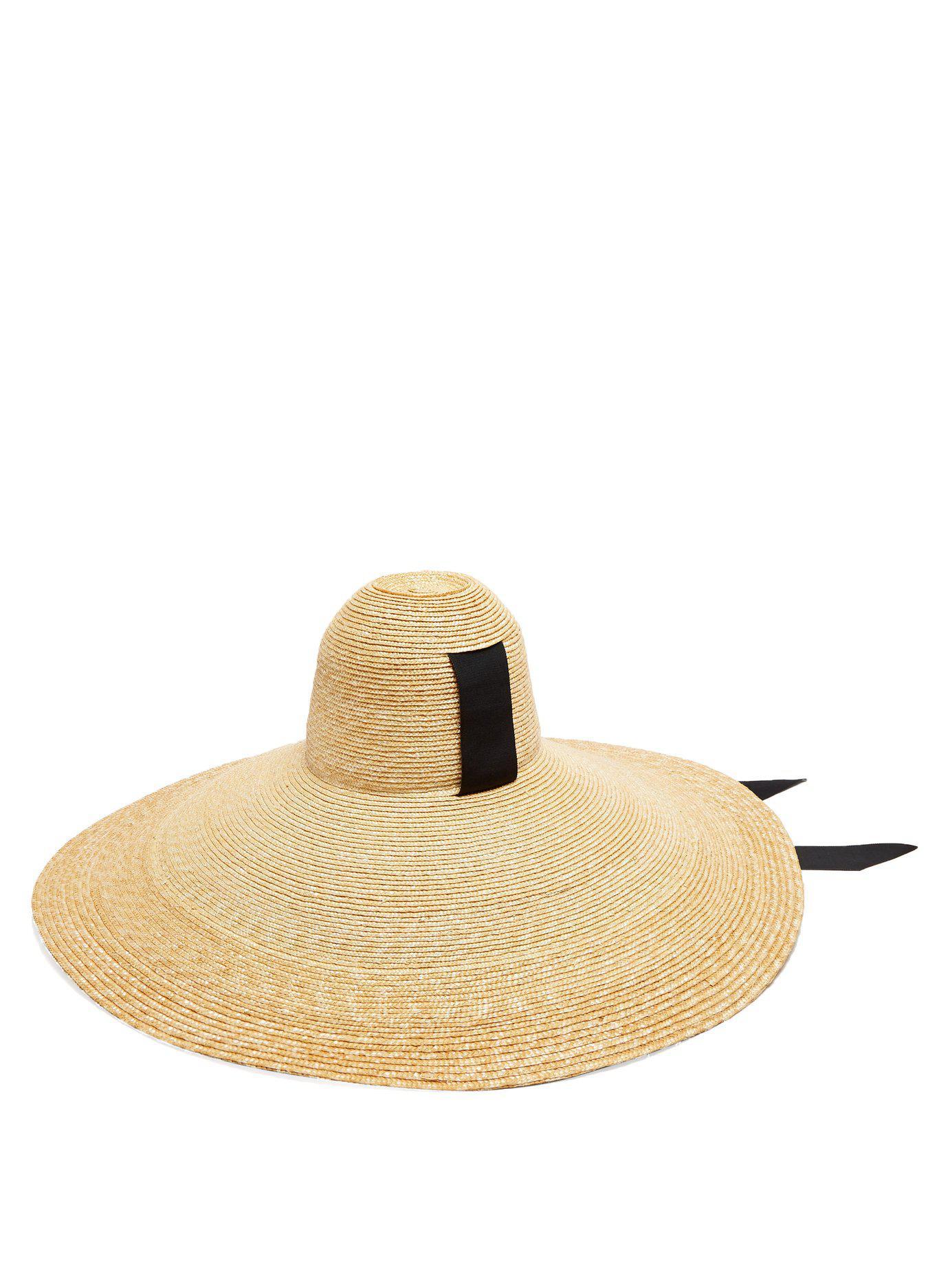 071cca9f927 Lyst - Lola Hats Sugar Cone Wide Brim Straw Hat in Black