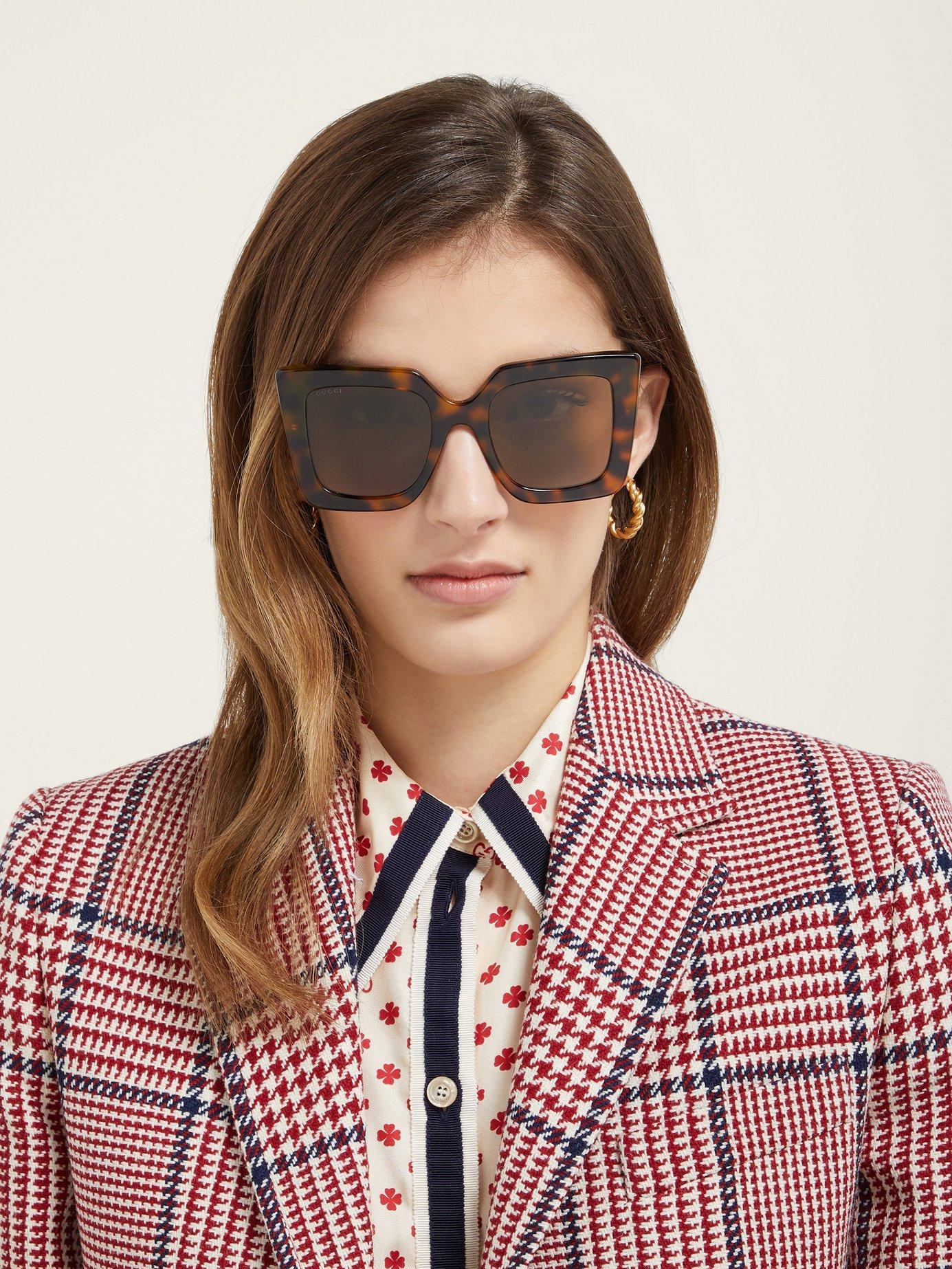 00b0d33c228ce Gucci. Women s Oversized Square Acetate Sunglasses