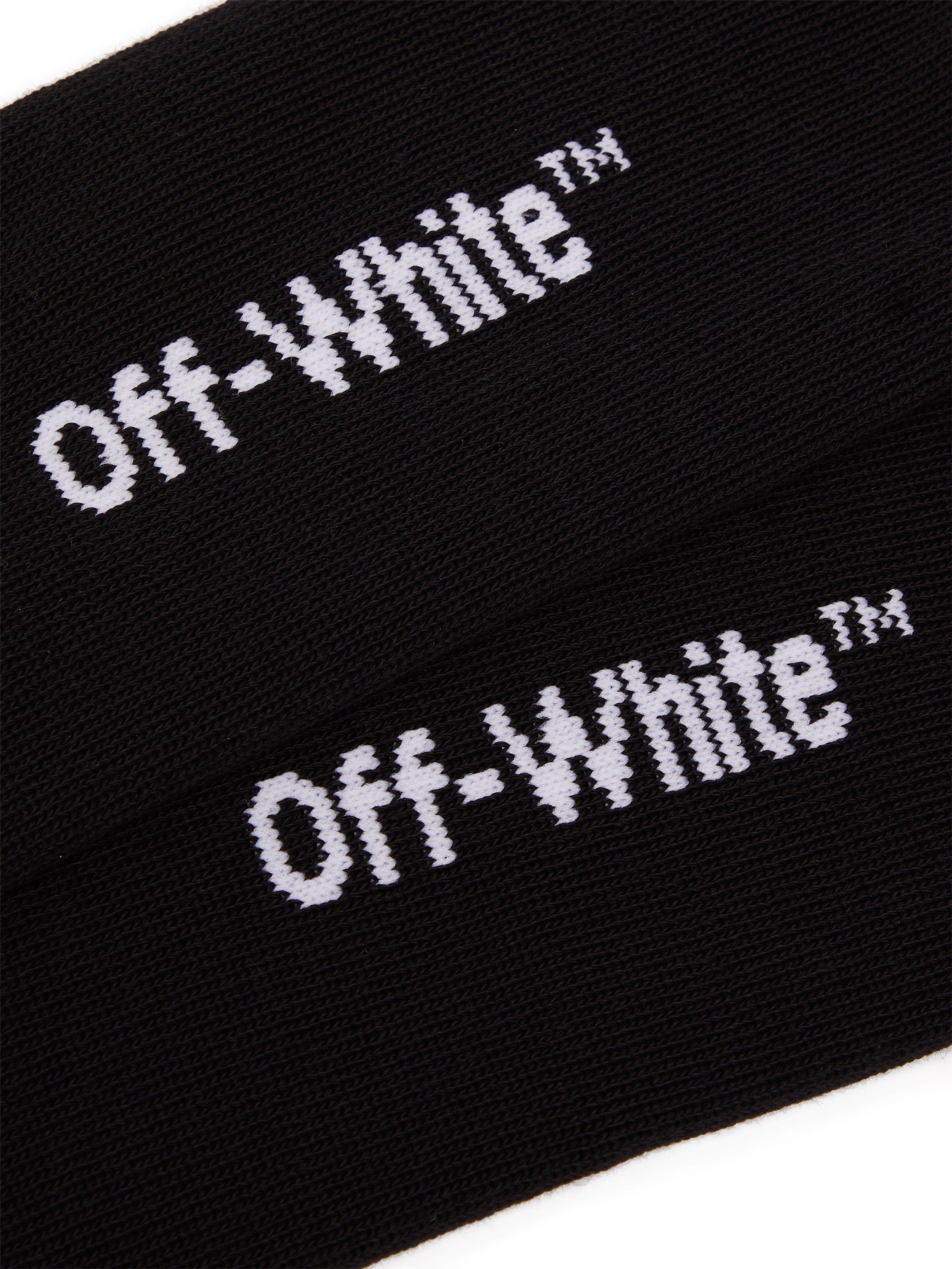 9559b9f4396c Off-White c o Virgil Abloh Quote Ribbed-knit Socks in Black for Men ...