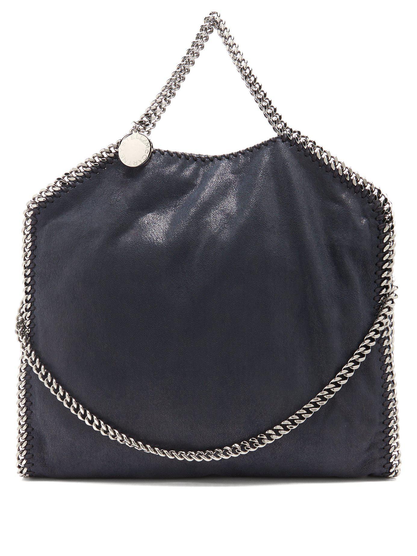 Lyst - Stella McCartney Falabella Faux Suede Shoulder Bag in Blue 52dfe6d7689a6