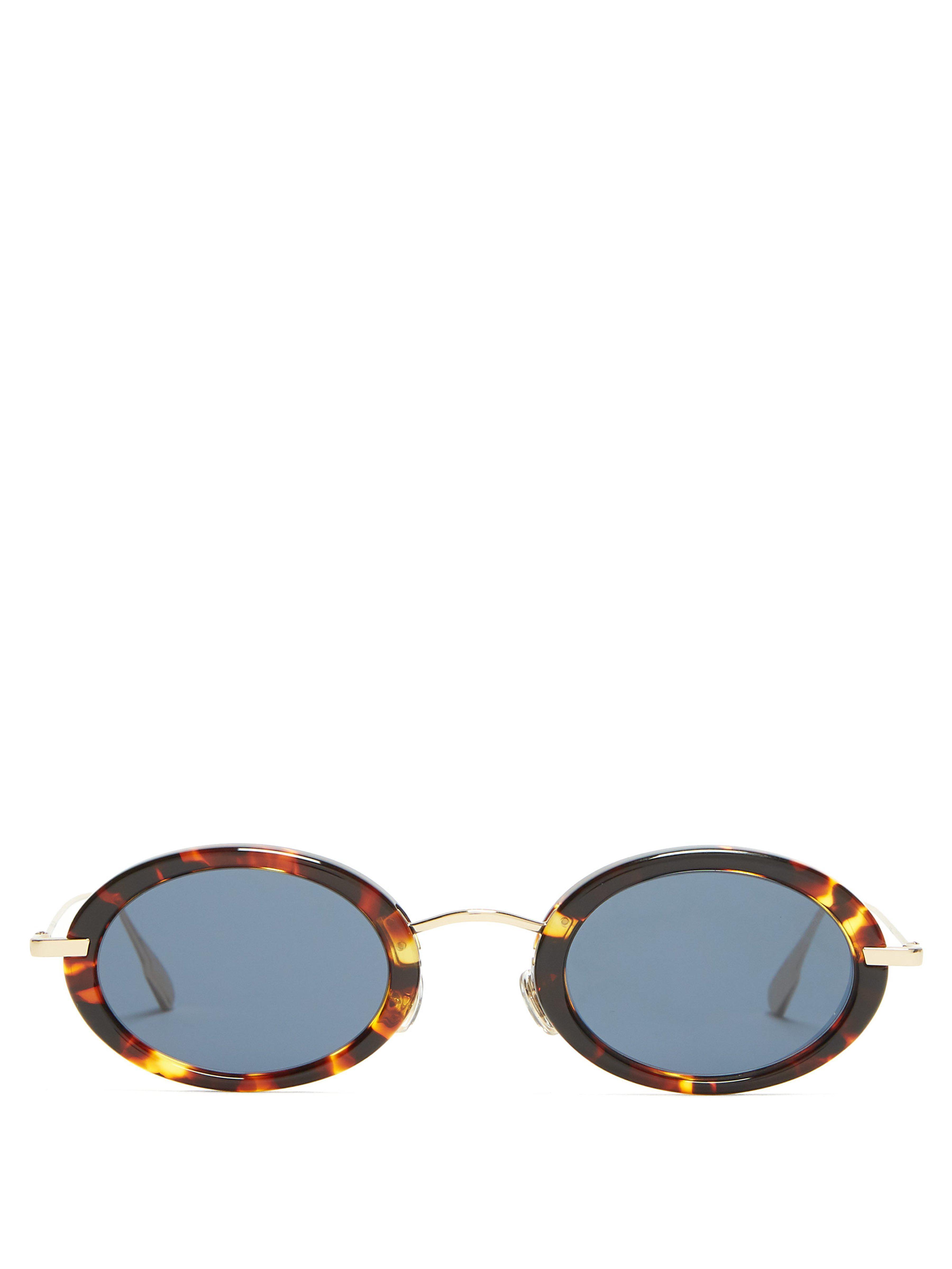 19cdc6572717 Dior. Women s Diorhypnotic2 Oval Tortoiseshell Sunglasses
