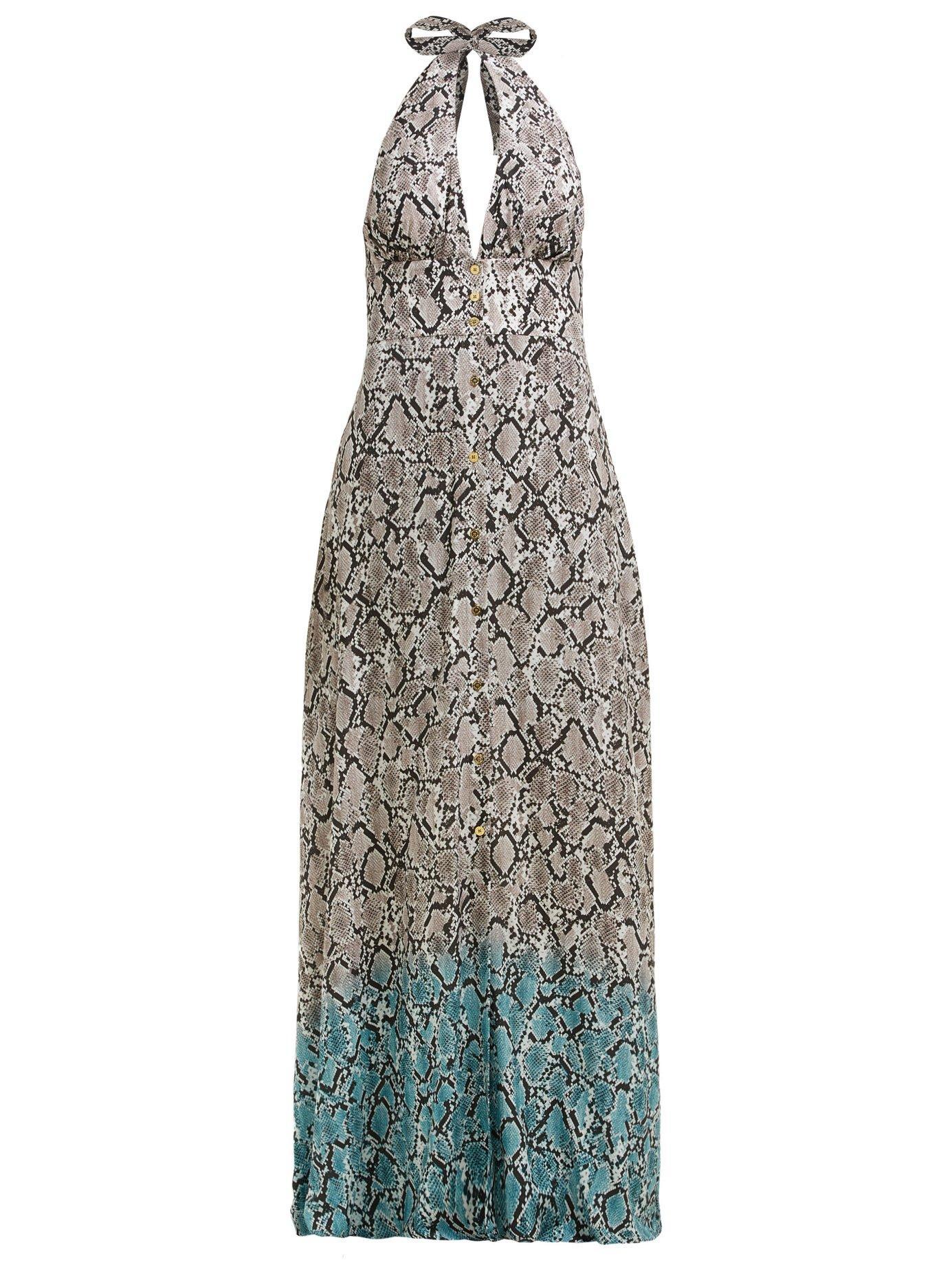 02dfe478da Heidi Klein. Women's Mozambique Snakeskin Print Maxi Dress