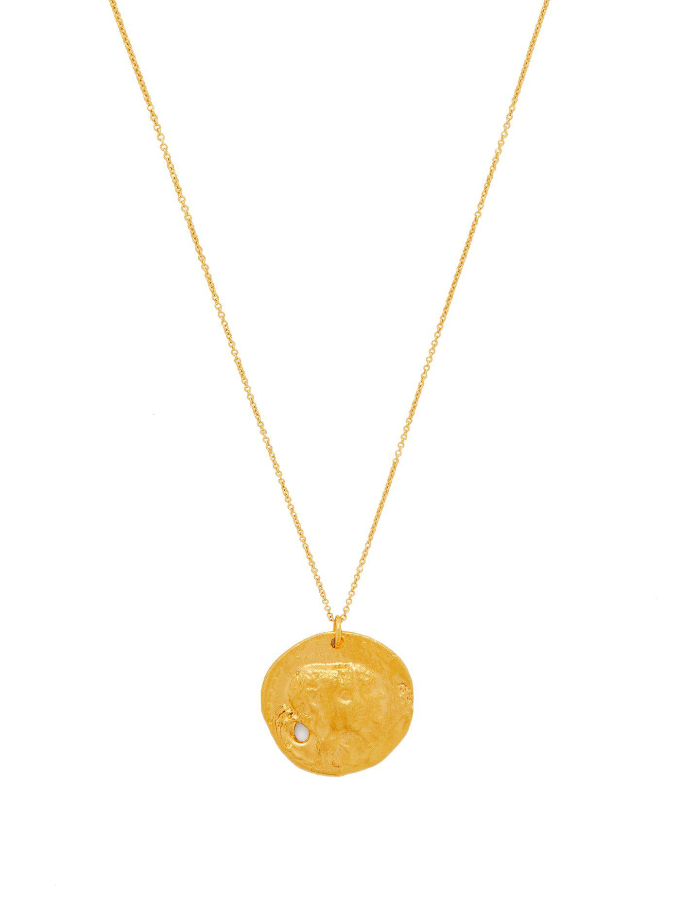 b50fecfcc53ec Lyst - Alighieri The Other Side Of The World Gold Plated Necklace in ...