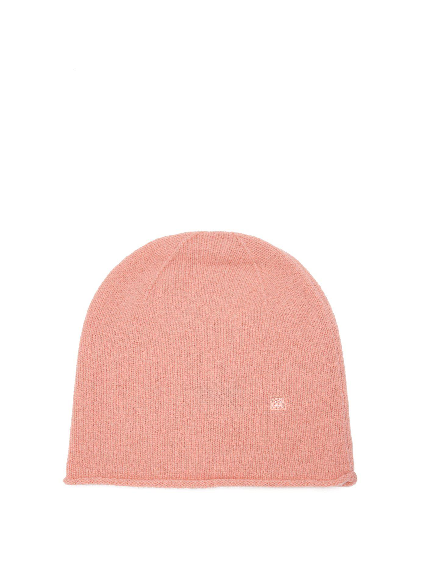 aac397b8c9a Lyst - Acne Studios Pansy S Face Wool Beanie Hat in Pink