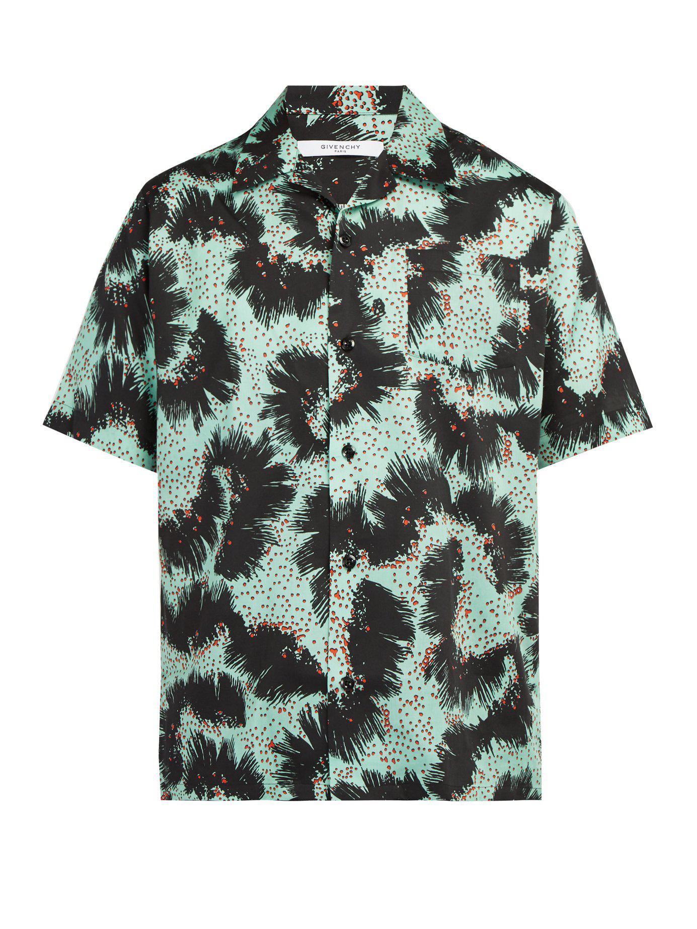 cf995e89b654 Givenchy - Green Short Sleeve Shirt for Men - Lyst. View fullscreen