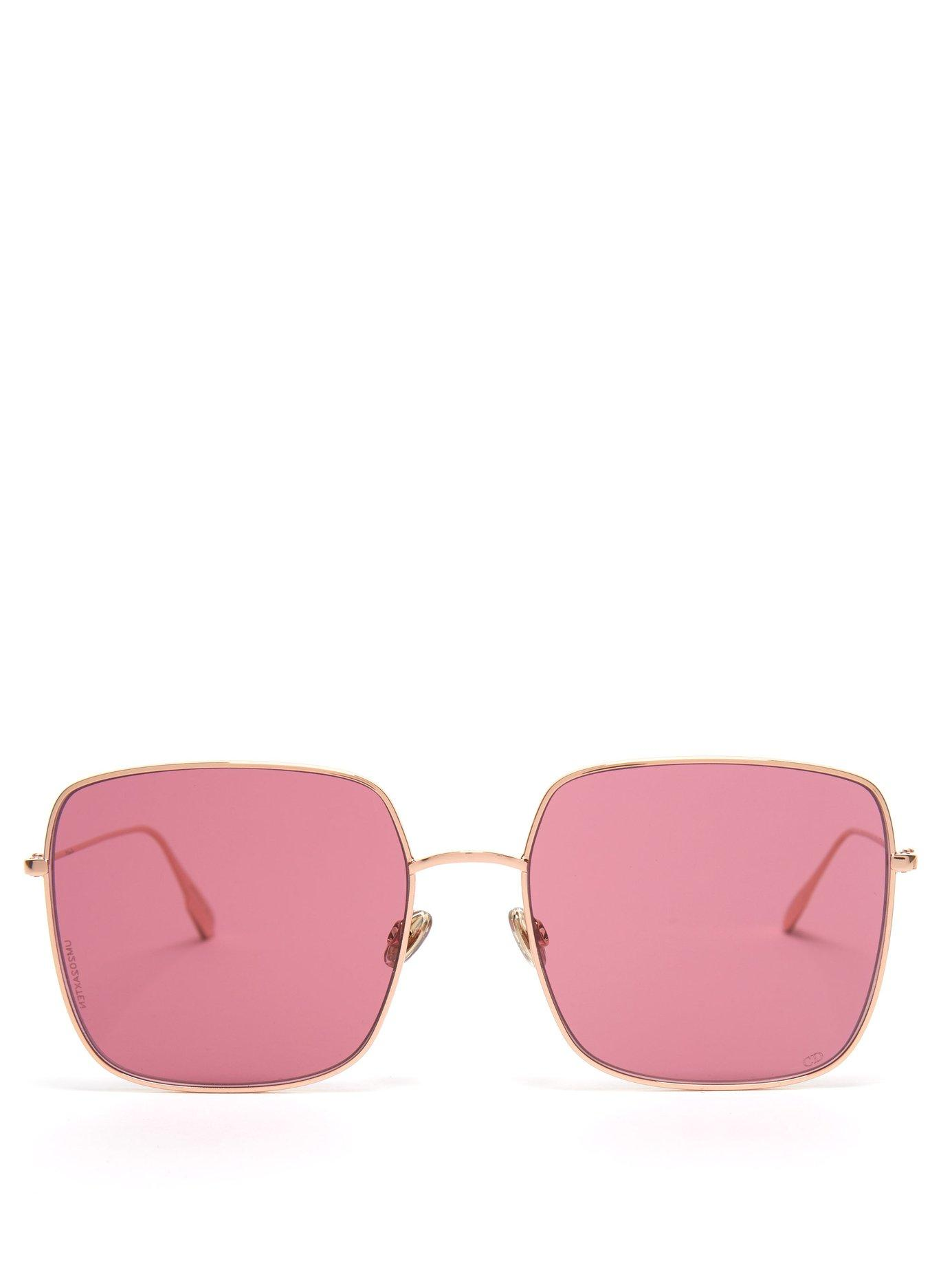 8ff62102cf4 Lyst - Dior Stellaire Square Sunglasses in Pink - Save 2%