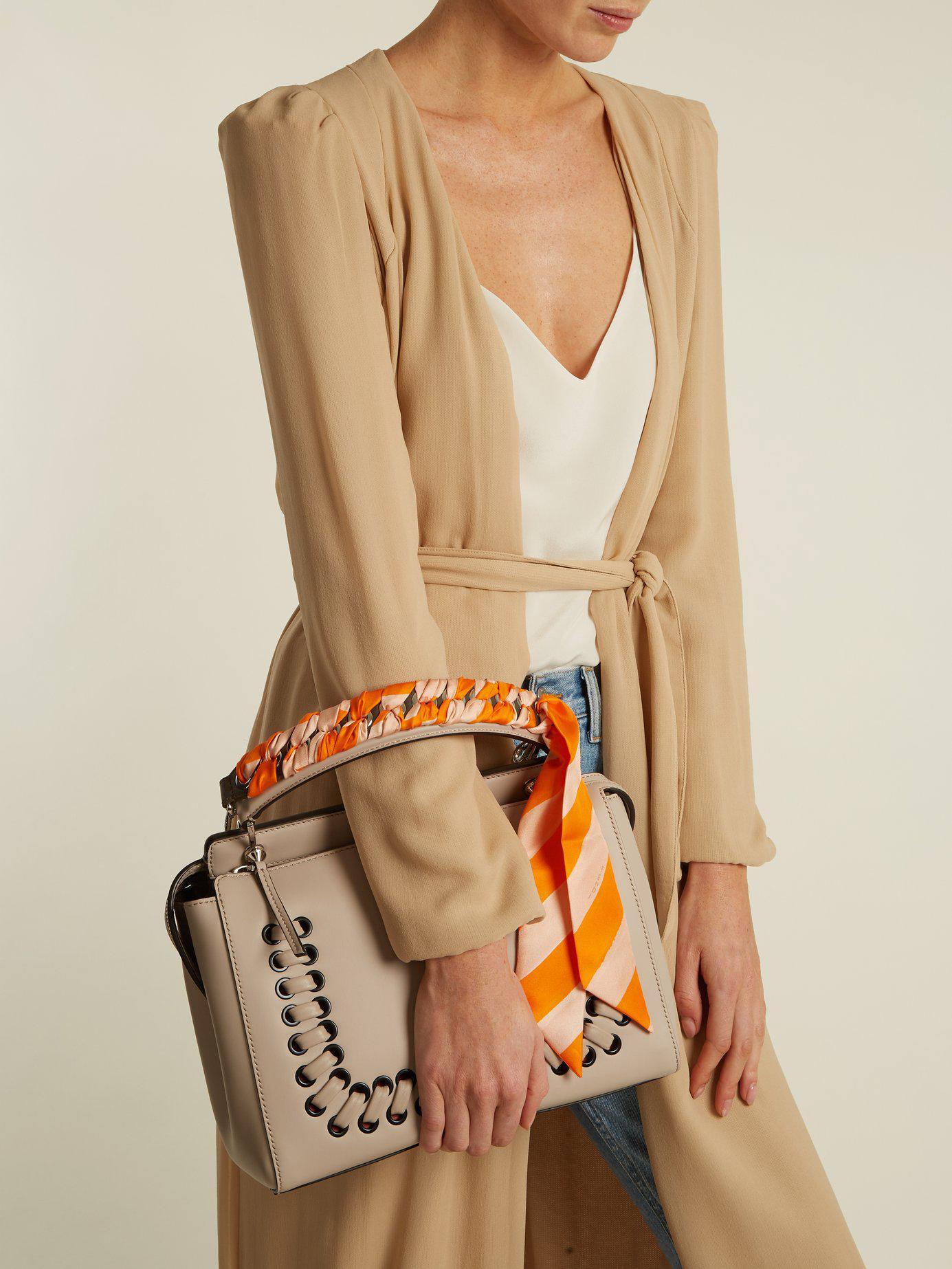 a43331b68c80 Lyst - Fendi Strap You Whipstitched Ribbon Short Bag Strap in Orange