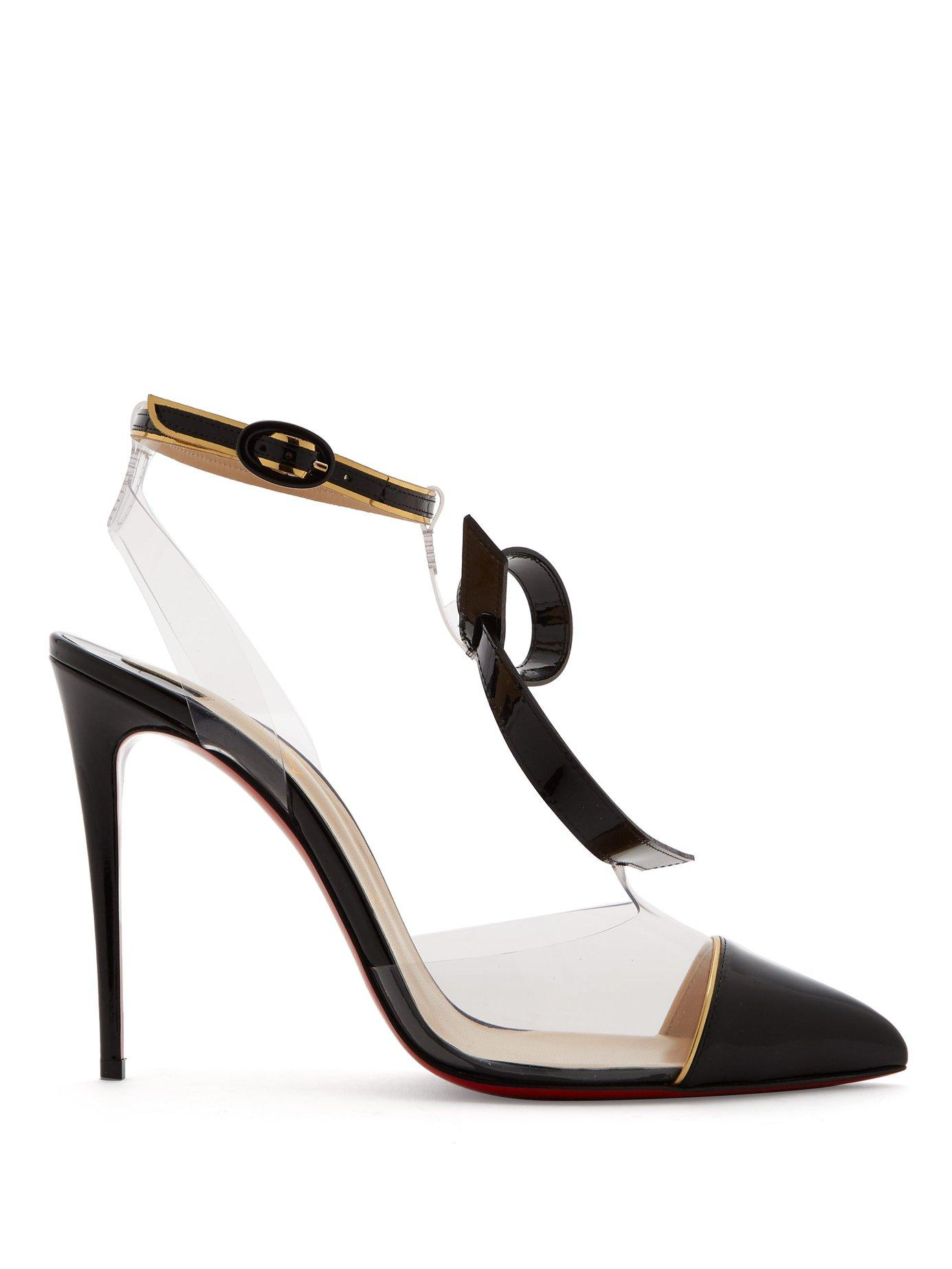 a242f8895fb Lyst - Christian Louboutin Alta Firma Leather And Perspex Pumps in Black