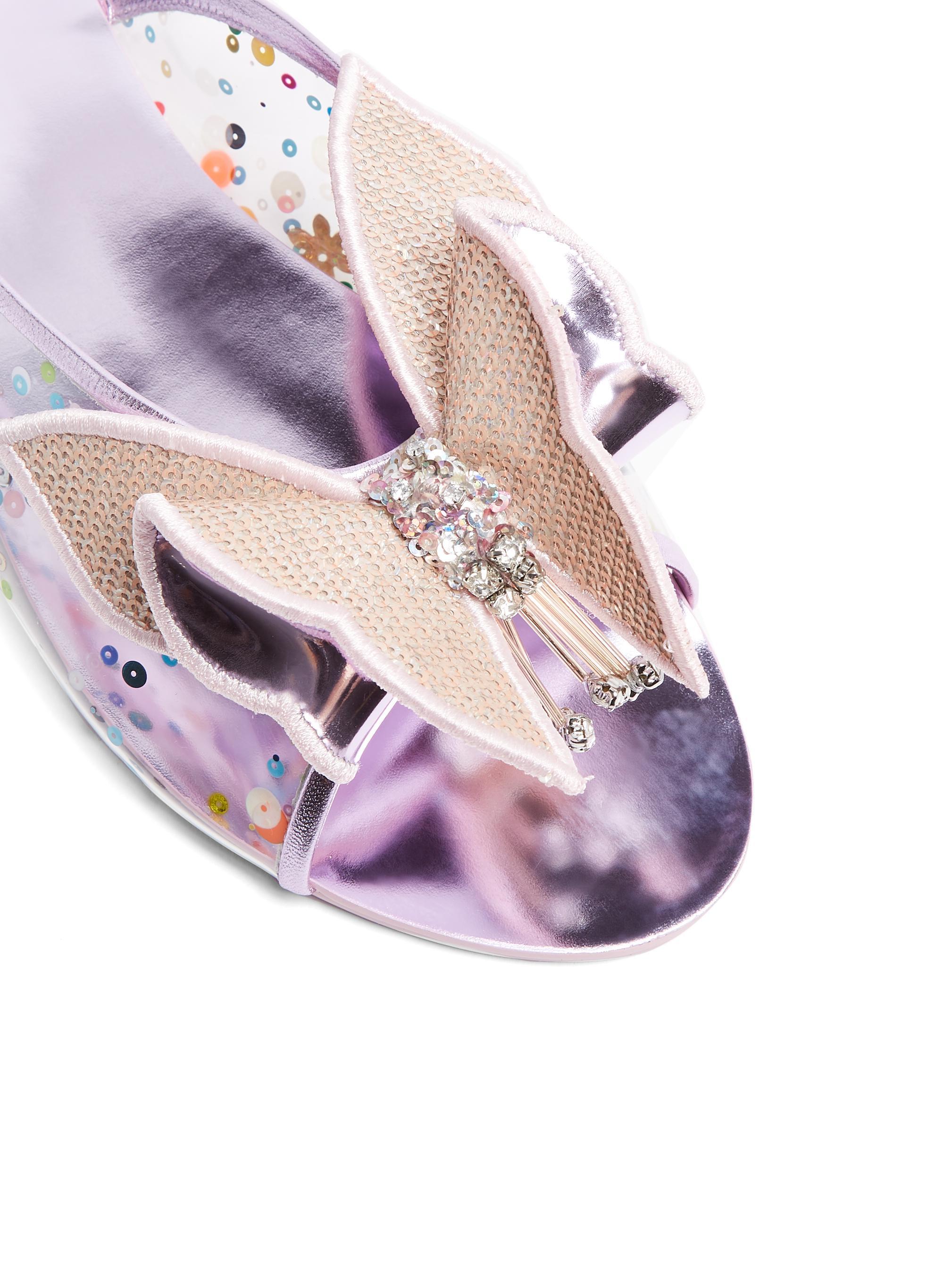 96bcf20b2f74 Sophia Webster Lana Sequin-embellished Slides - Lyst