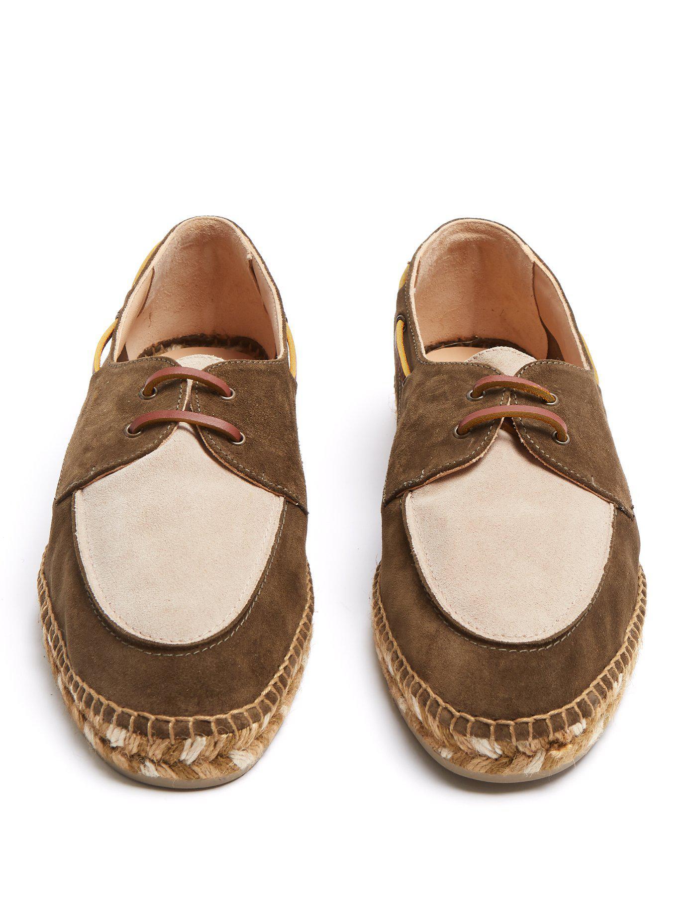 Chaussures bateau en daim à semelle espadrilleCastaner KGMrF1Rr4