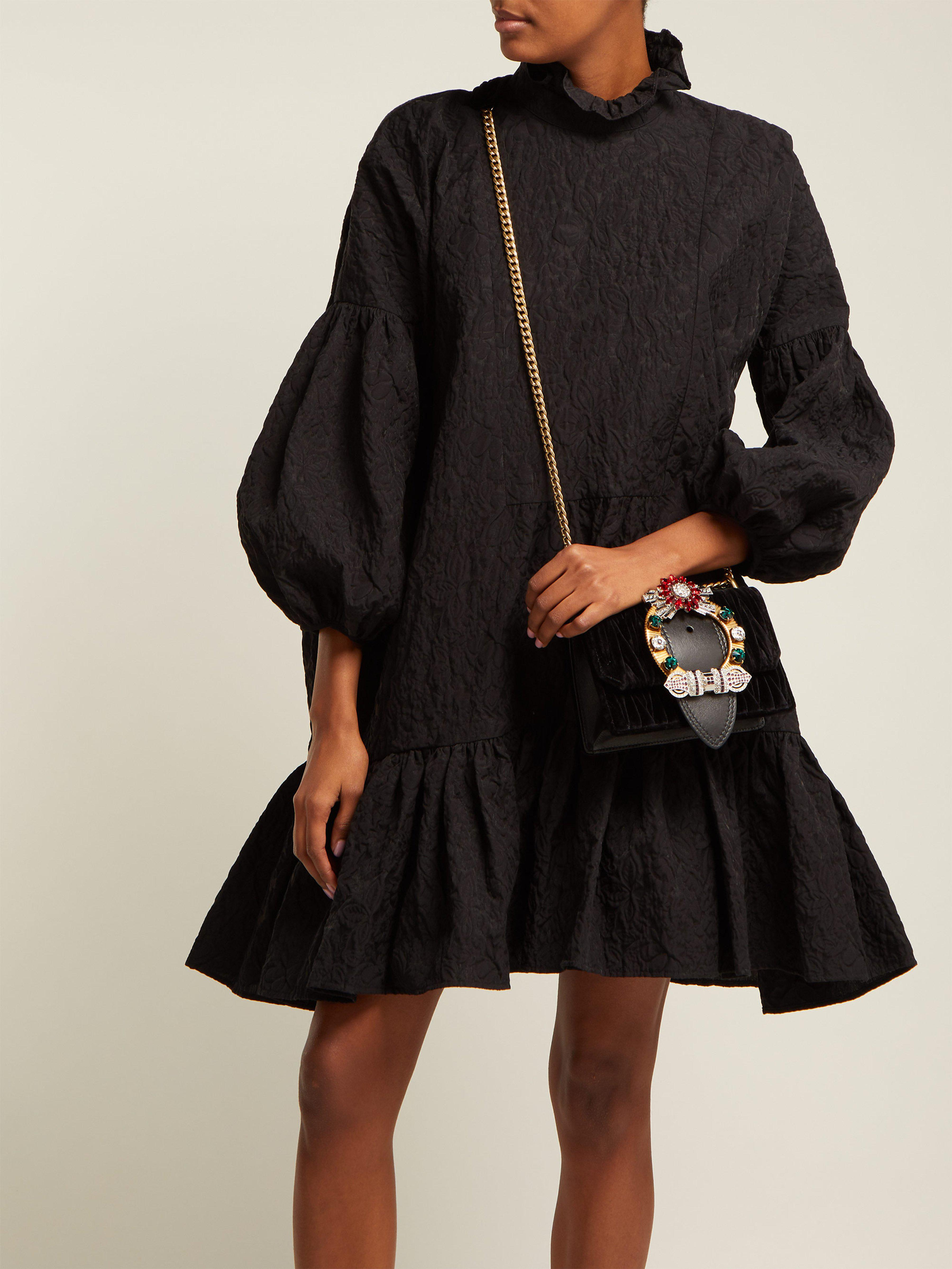 d833a3323a2f Miu Miu Lady Velvet Crossbody Bag in Black - Save 32.82051282051282% - Lyst