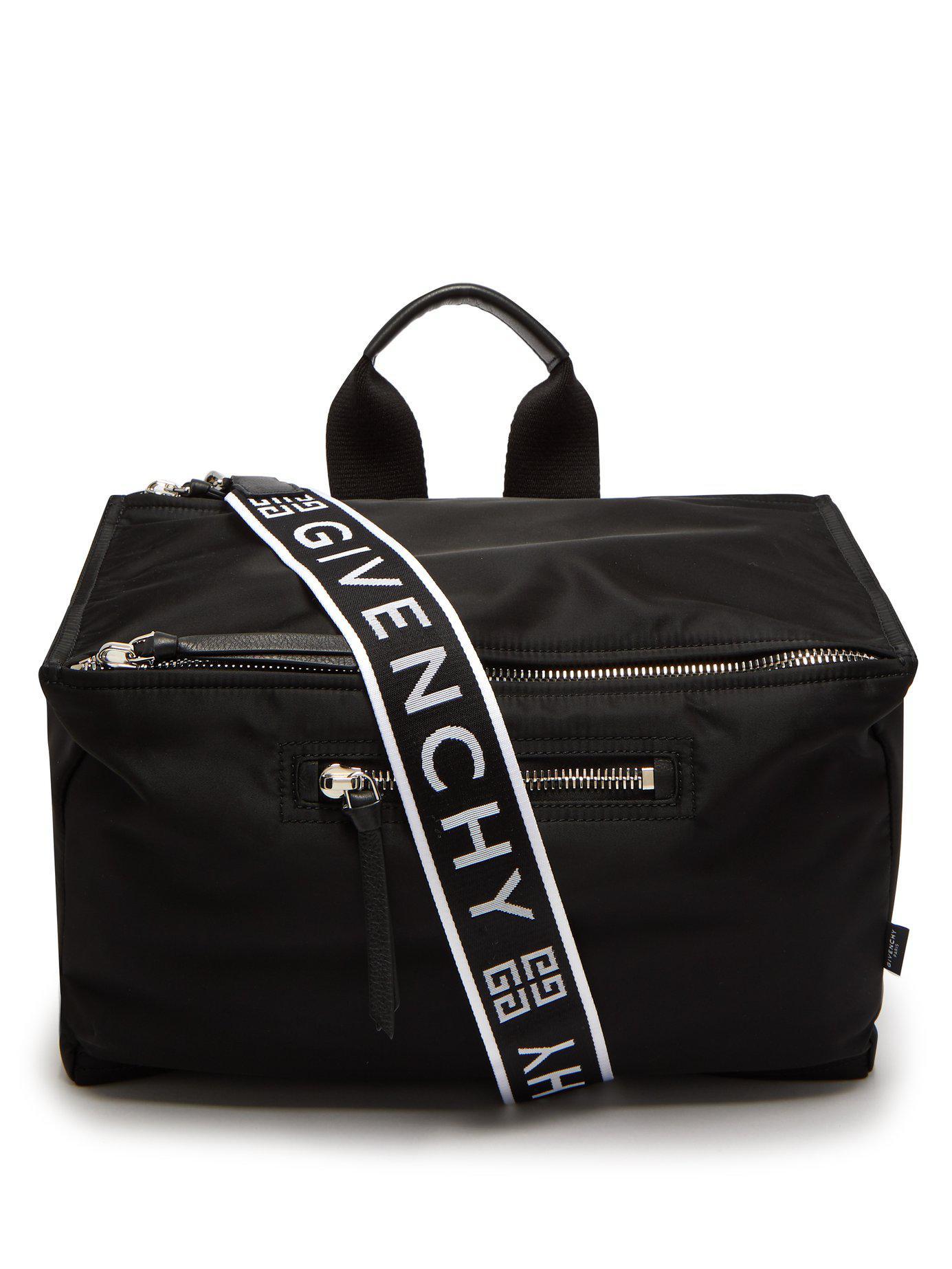 bbd547397f92 Lyst - Givenchy Logo Print Messenger Bag in Black for Men