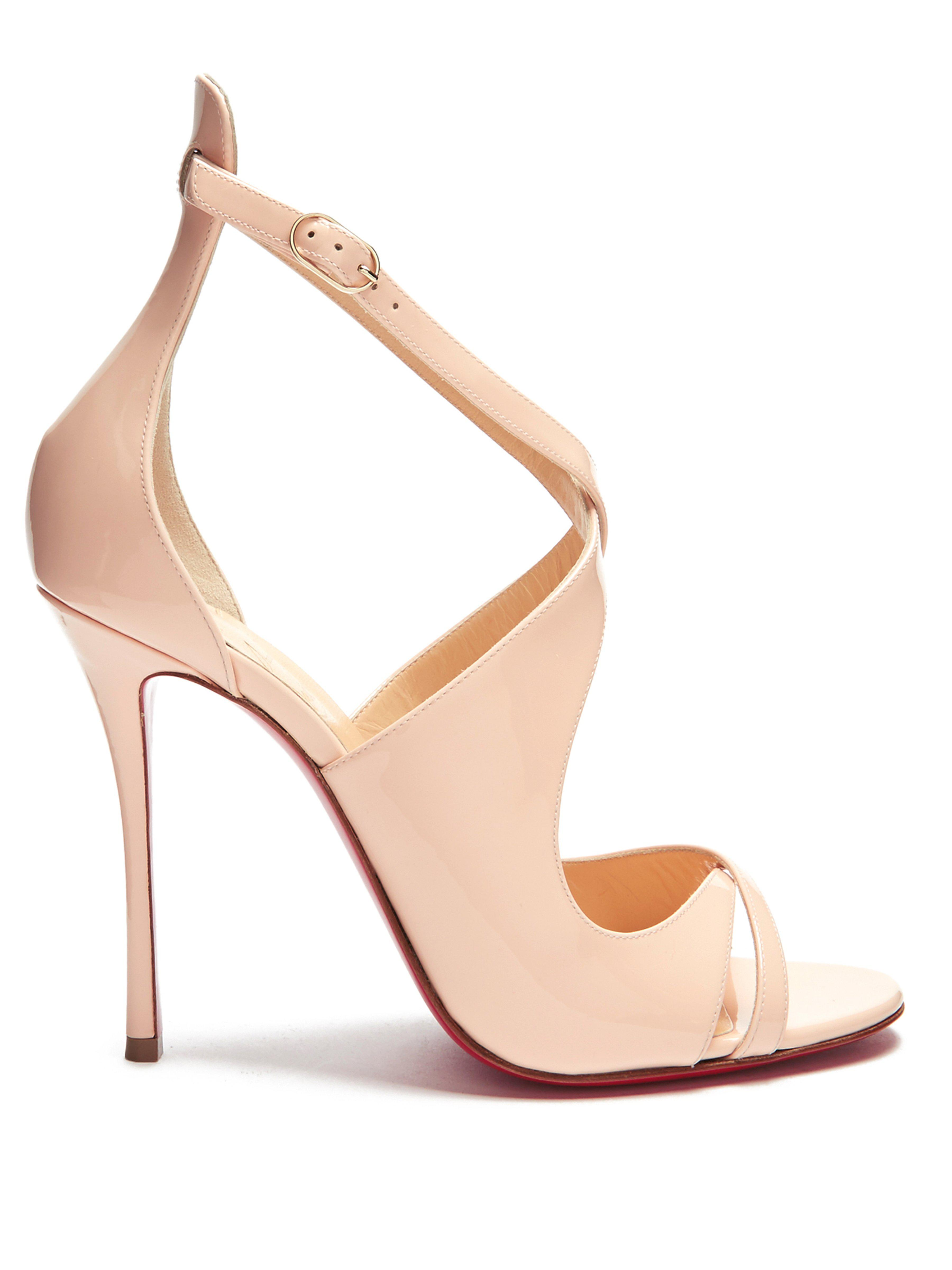7d29f3b8d44 Christian Louboutin Malefissima Patent Leather Pumps in Pink - Lyst
