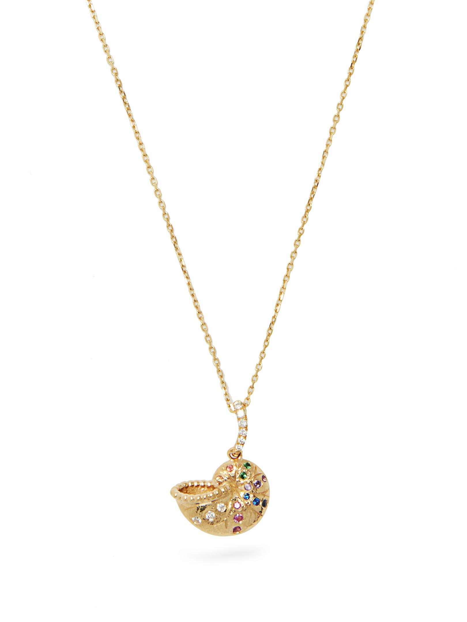 Aurélie Bidermann Diamond, multi-stone & yellow-gold necklace