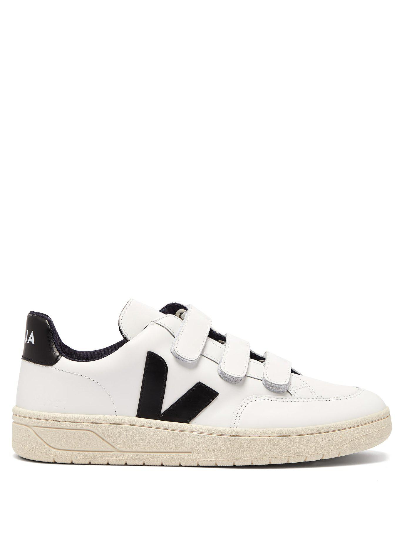ef828018a819 Veja - White V 12 Bastille Low Top Leather Trainers - Lyst. View fullscreen