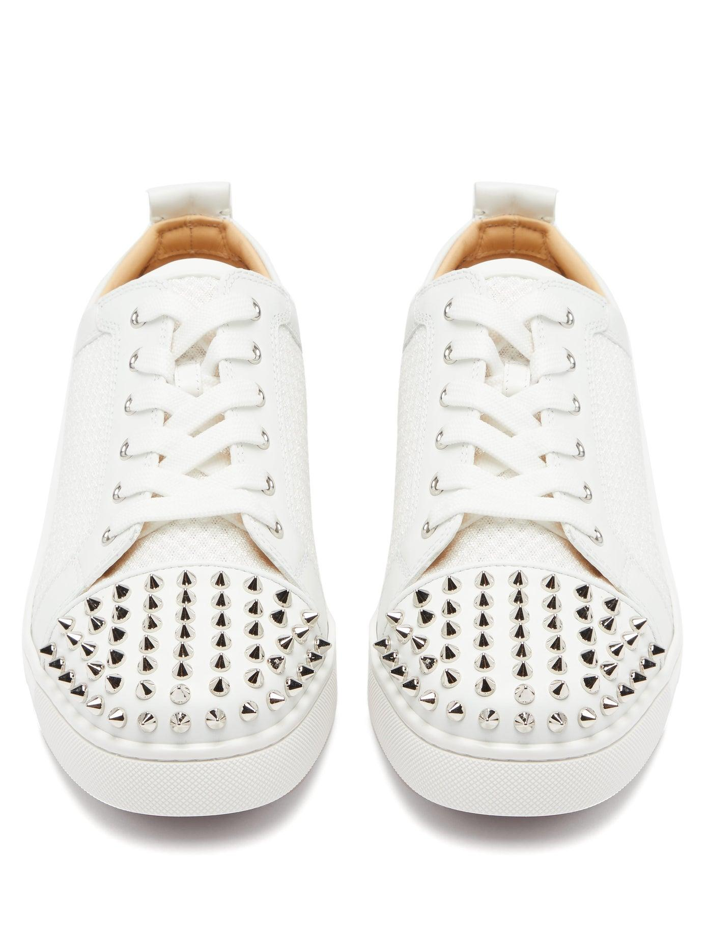 87c4c630f6c Men's White Ac Louis Junior Spikes Mesh And Leather Sneakers