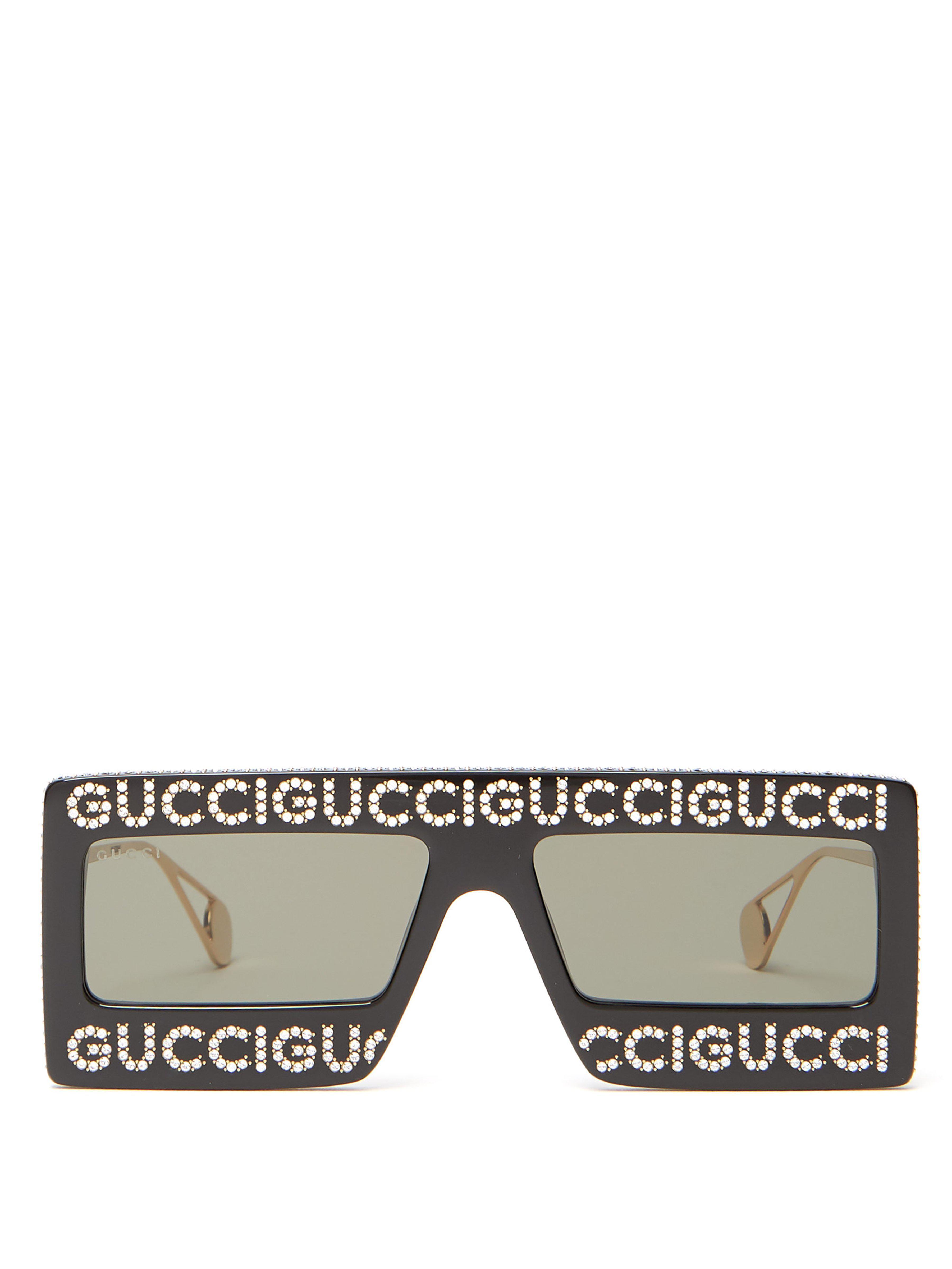 Lyst - Lunettes de soleil à ornements Hollywood Forever Gucci pour ... af5eace78fe4