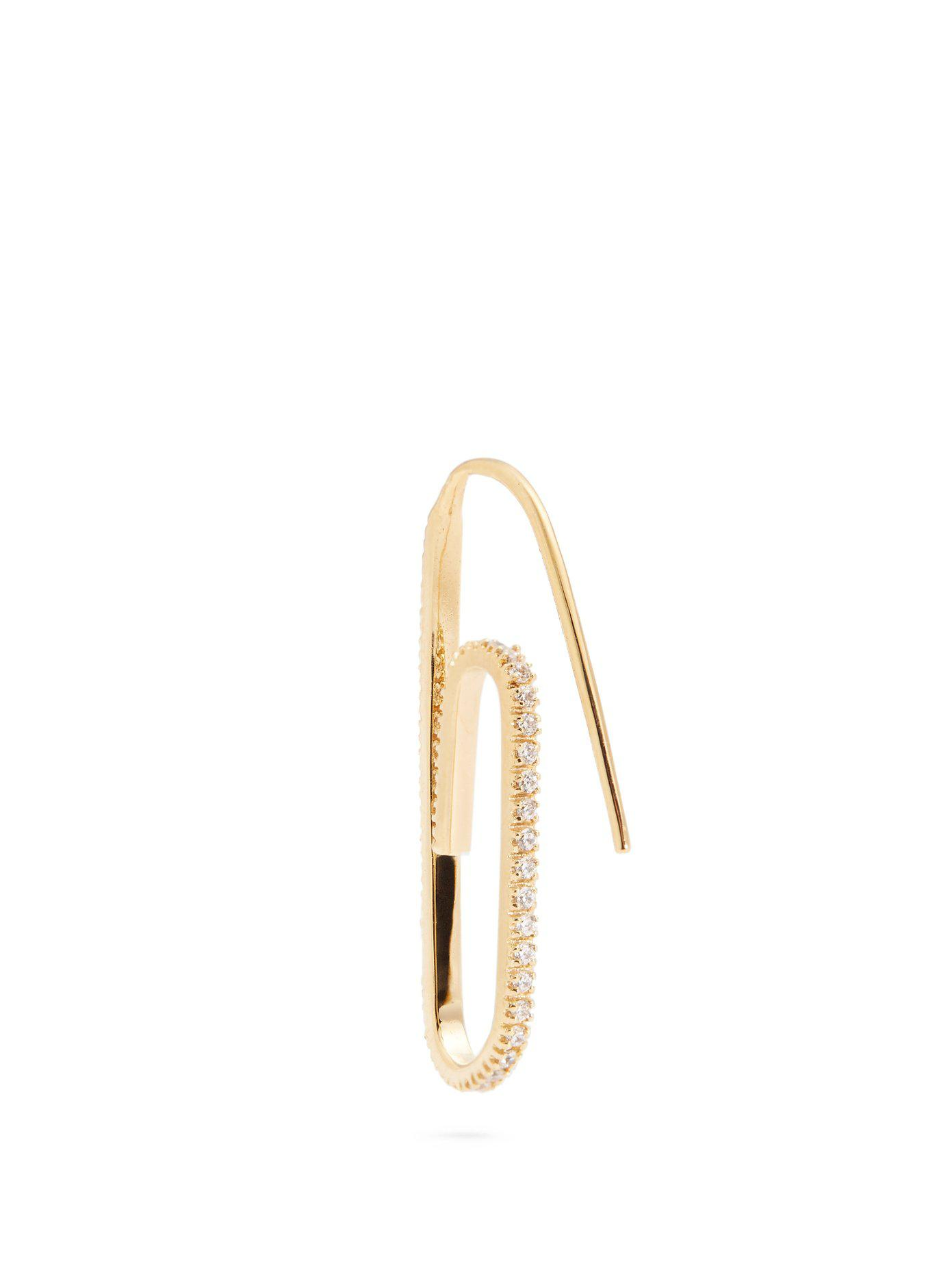 Hillier Bartley Swarovski-embellished paperclip single earring EH2SCWp