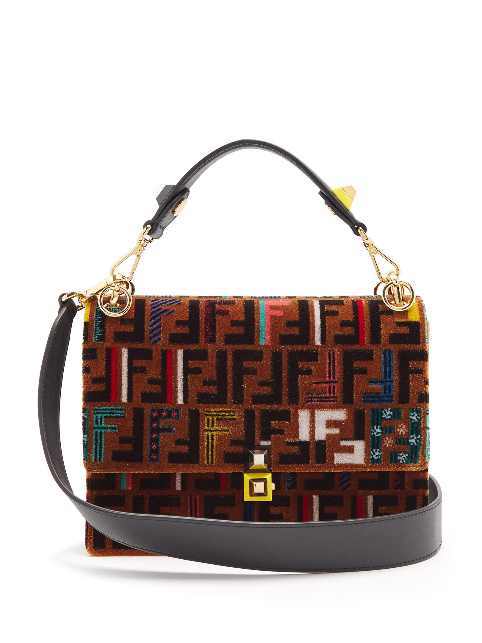 Fendi Logo Print Shoulder Bag