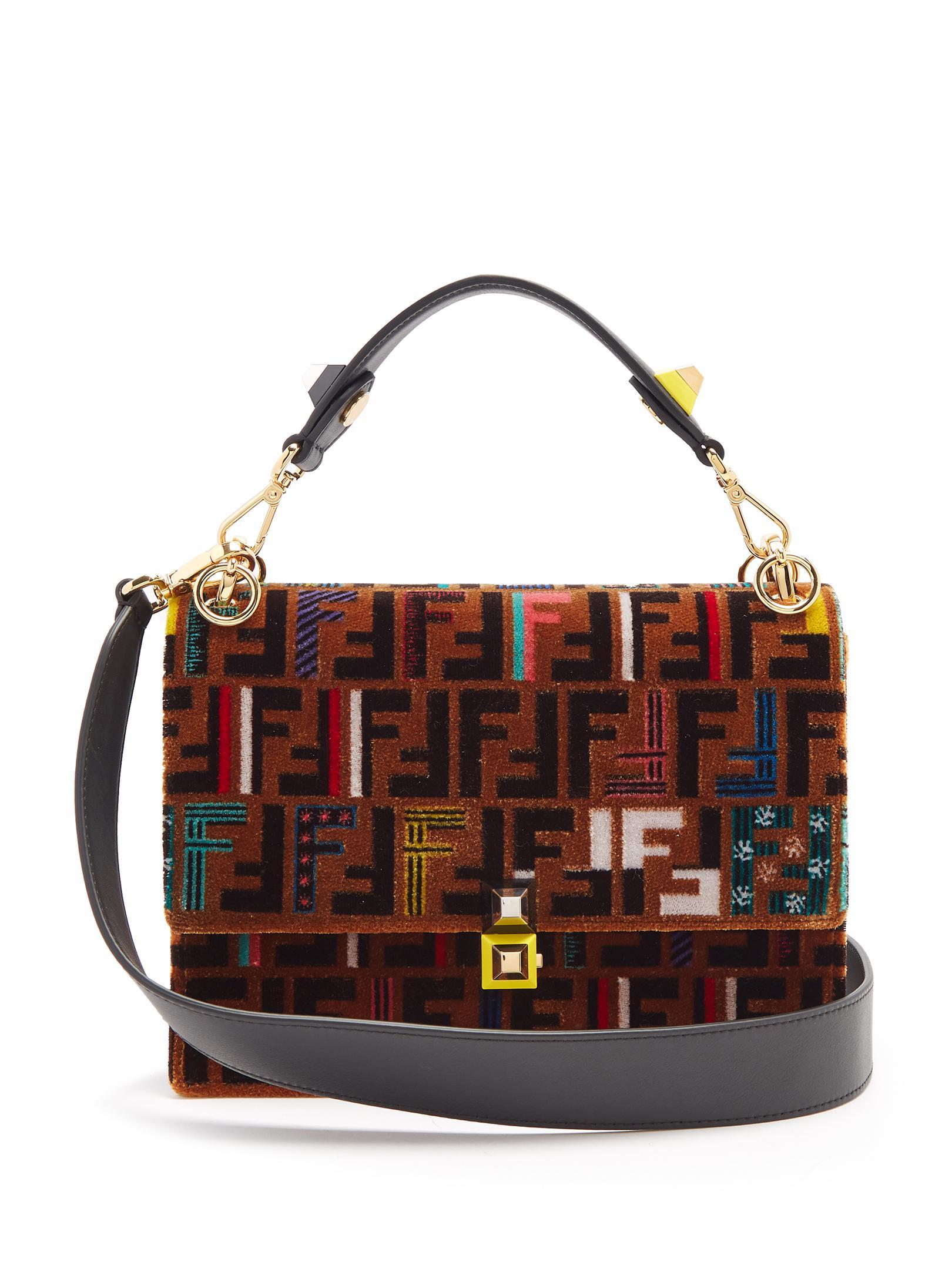 Fendi Logo Print Shoulder Bag