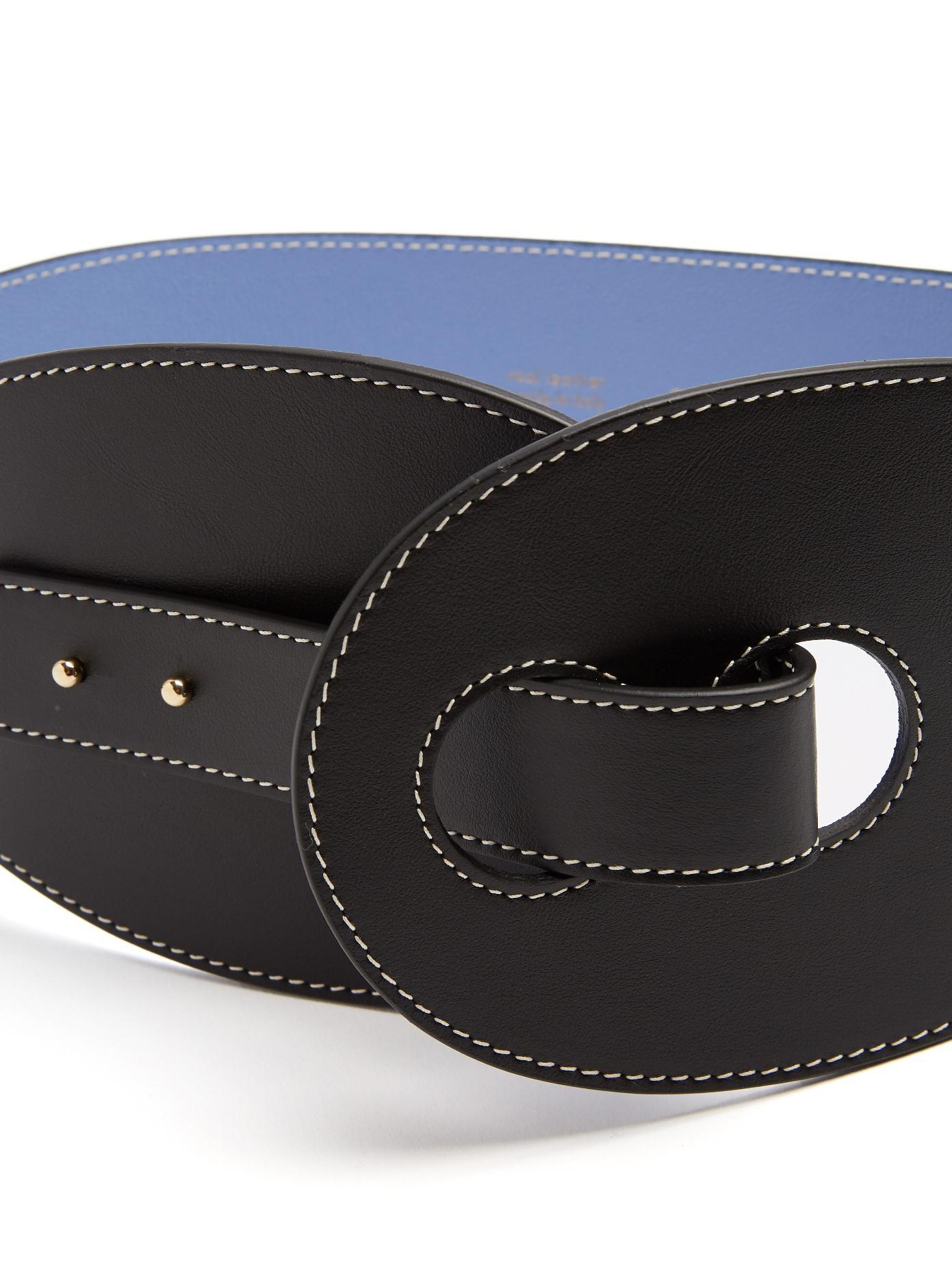 Contrast stitch leather waist belt Roksanda Ilincic 7TpyDax
