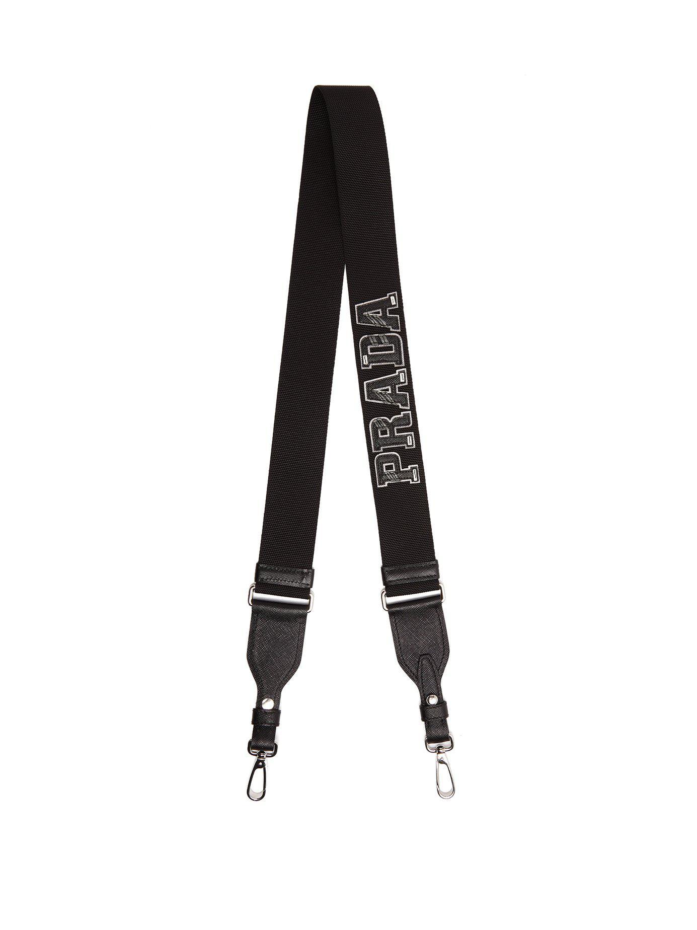 cfee56496de8 Prada - Black Letter Leather Bag Strap for Men - Lyst. View fullscreen