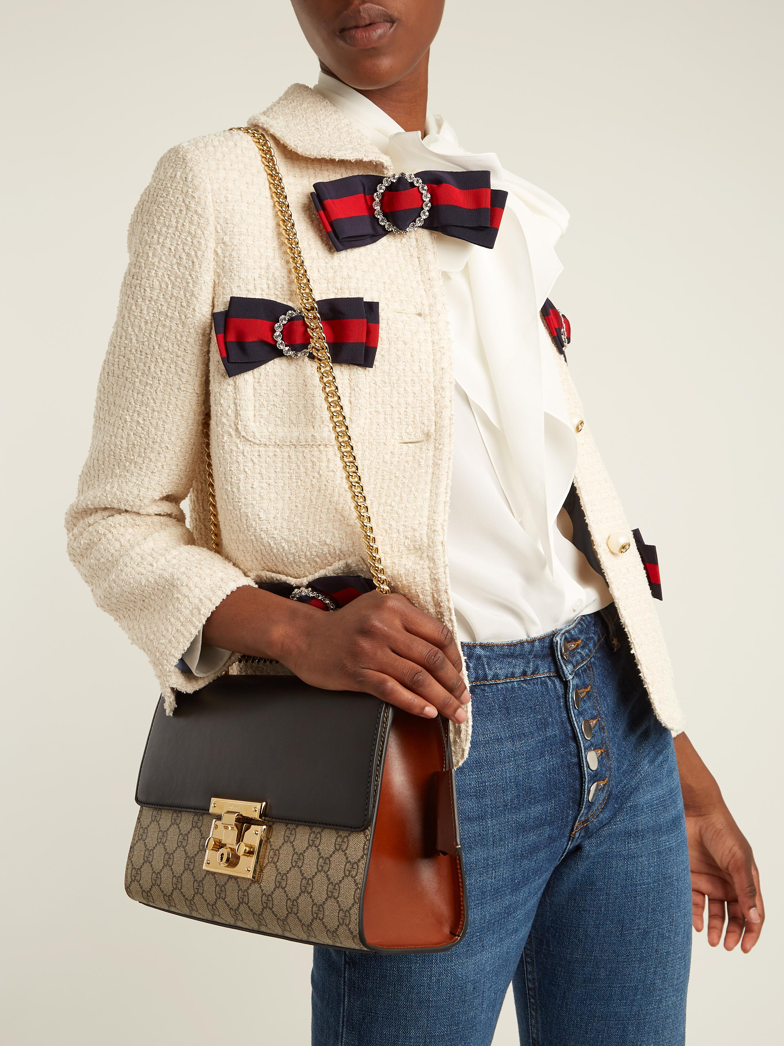 0a3d4ac394a Lyst - Gucci Padlock Gg Supreme Medium Shoulder Bag