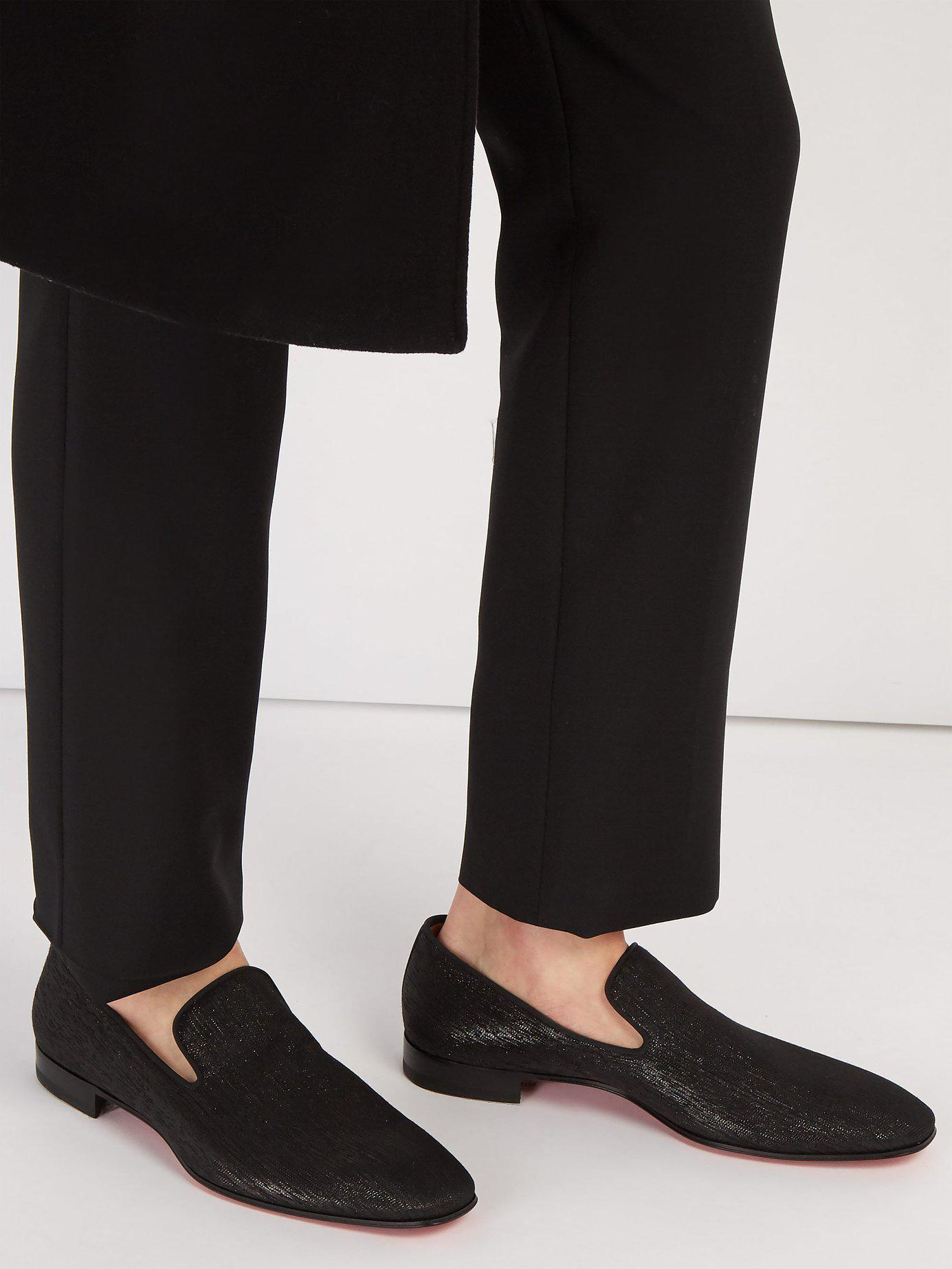 e394738eda44 Lyst - Christian Louboutin Dandelion Metallic Shantung Loafers in Black for  Men
