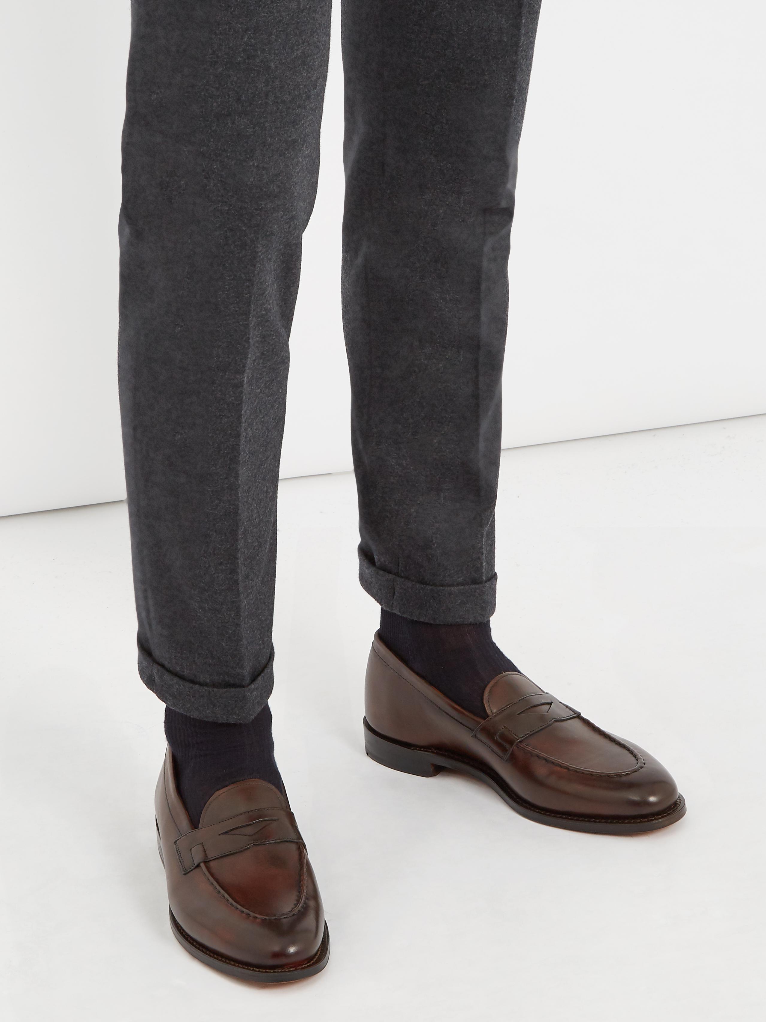 1c0bb5fffb8 Lyst - Grenson Lloyd Leather Loafers in Brown for Men