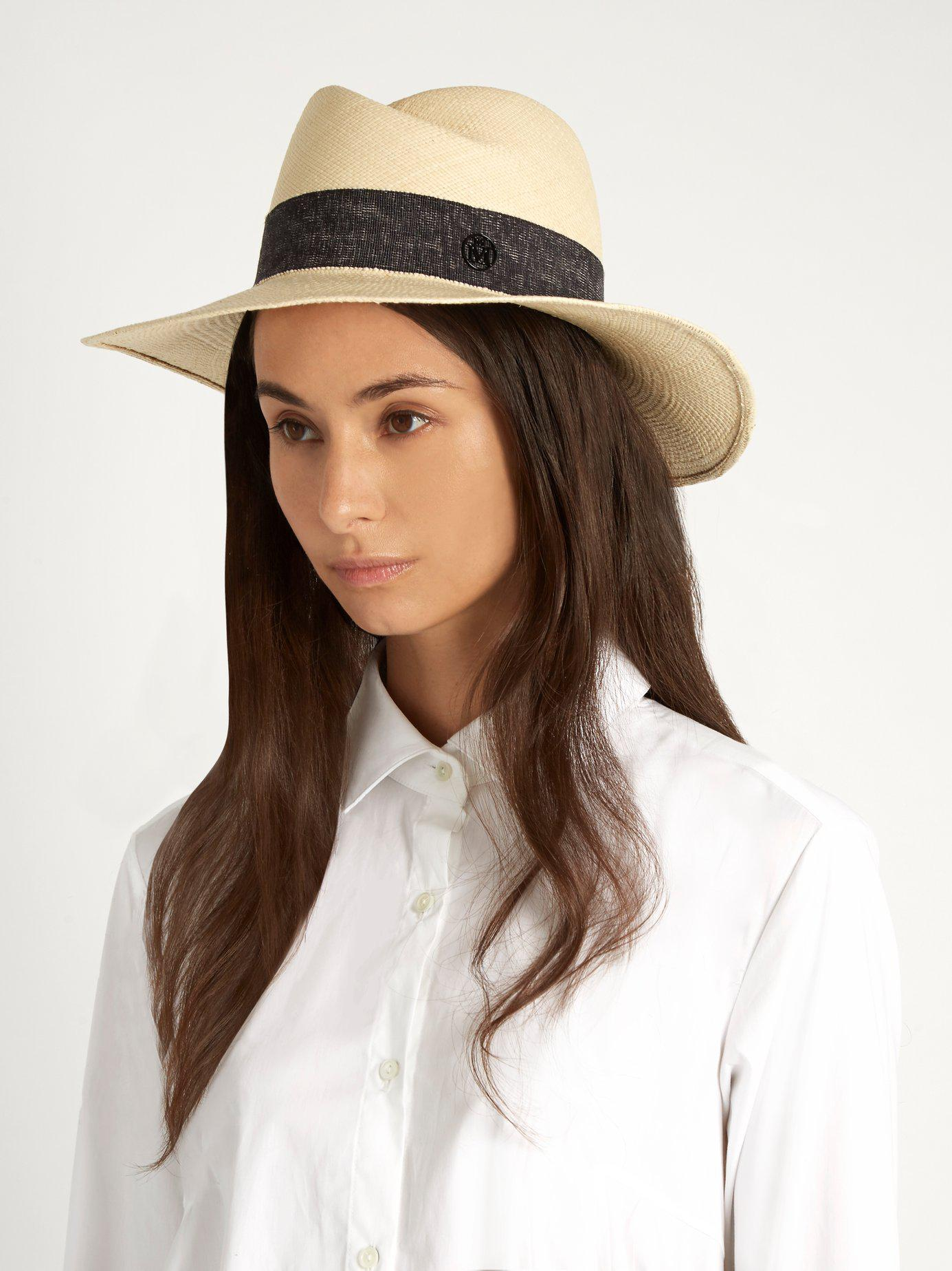 4b2105f1cc7 Maison Michel - Multicolor Virginie Straw Hat - Lyst. View fullscreen
