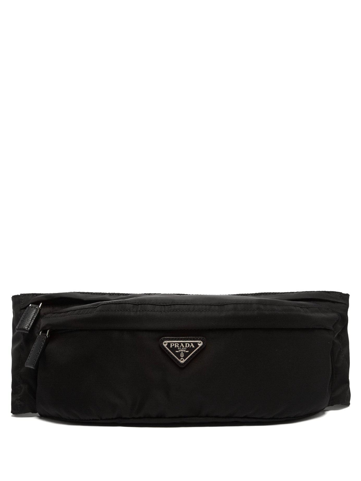 Lyst - Prada Black Nylon Belt Bag in Black for Men - Save 5% 0186f0399f5e0