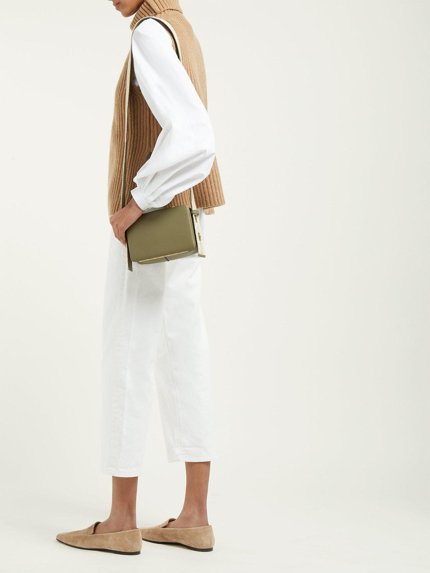 c354ec3259e3 Lyst - Lutz Morris Maya Grained Leather Cross Body Bag in Natural