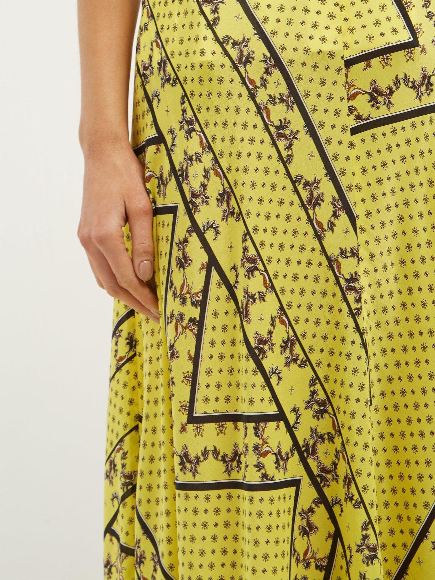 24953735c Ganni - Yellow Hemlock Bandana Print Silk Blend Skirt - Lyst. View  fullscreen