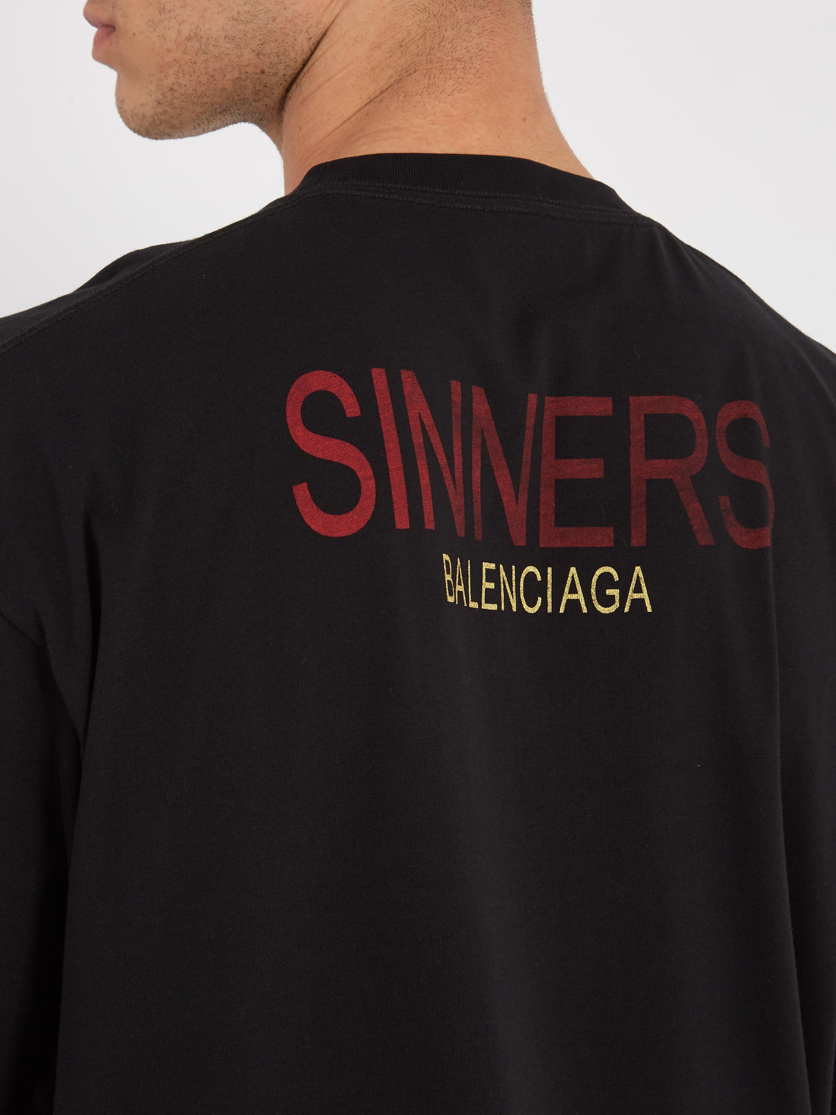 a28579da1eb5 Balenciaga Oversized Sinners-print Cotton T-shirt in Black for Men ...