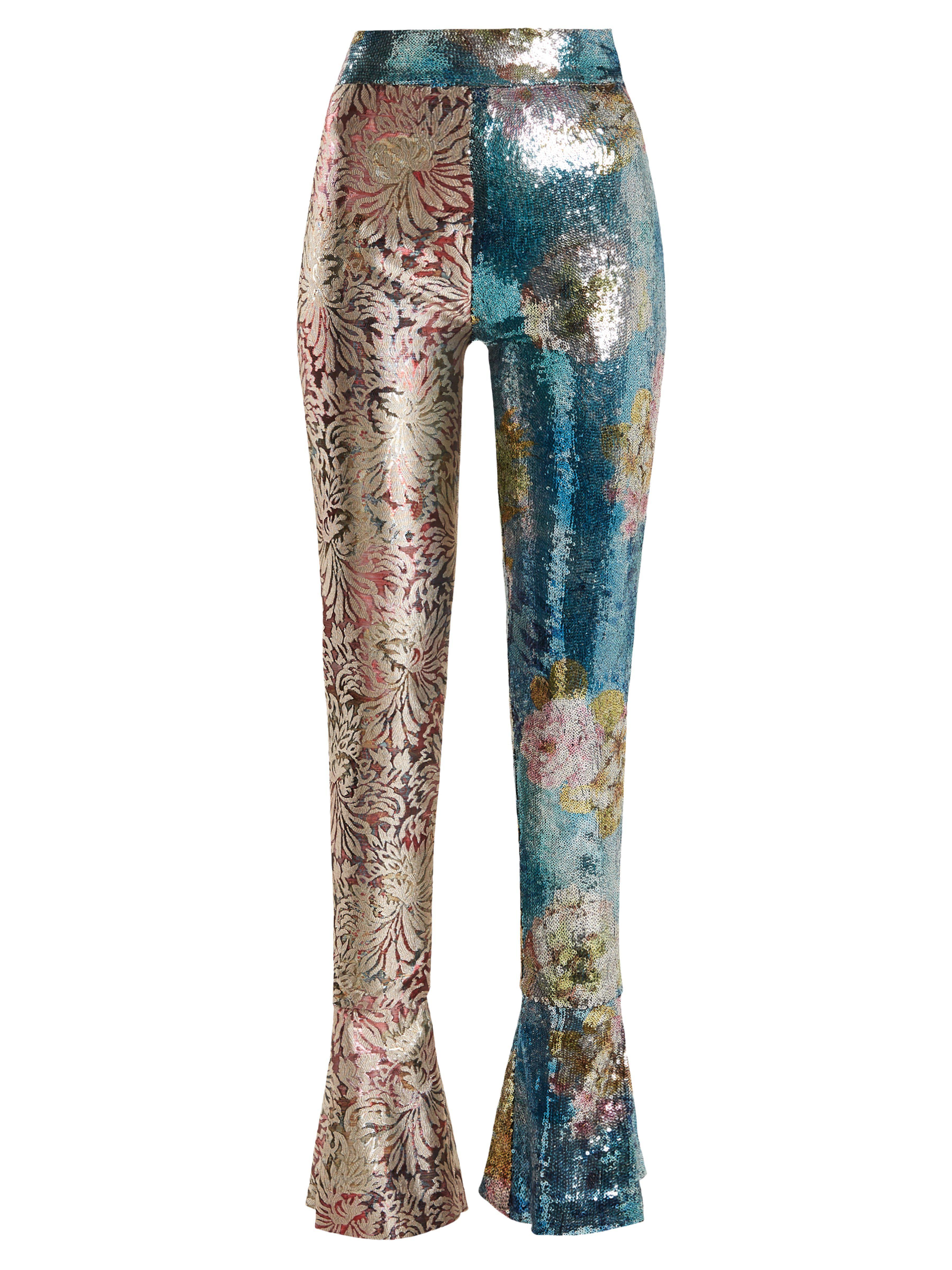 Pantalon De En Haute Sequins Halpern Ajusté Taille Orné Lyst yOPnv0Nwm8