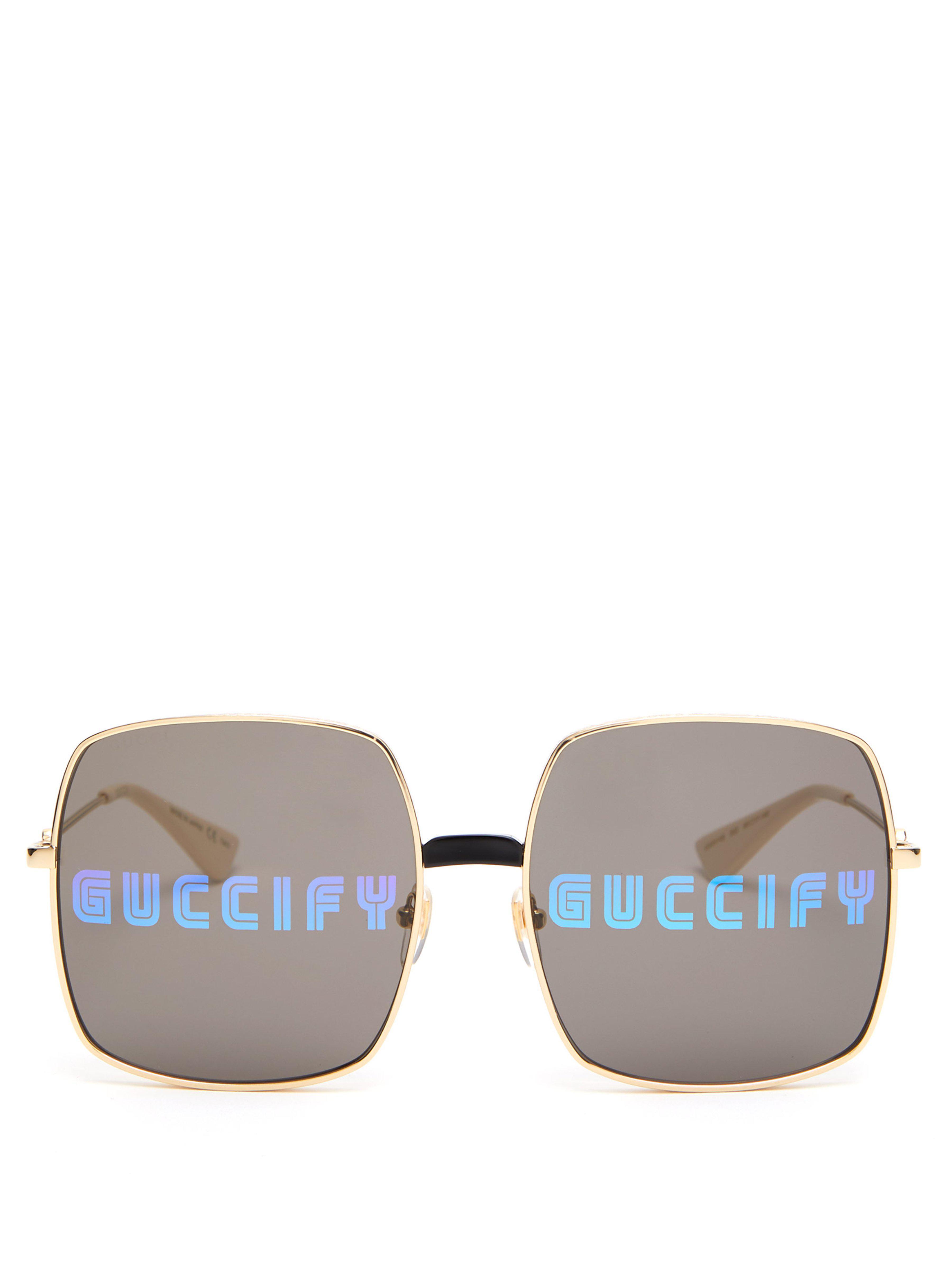 95d10d3dcf2 Gucci. Women s Fy Square Frame Sunglasses