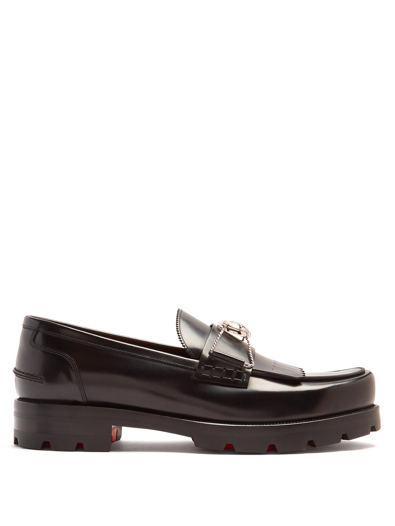 sports shoes a9dfc 0f1b4 christian-louboutin-black-bubbly-Leather-Loafer.jpeg