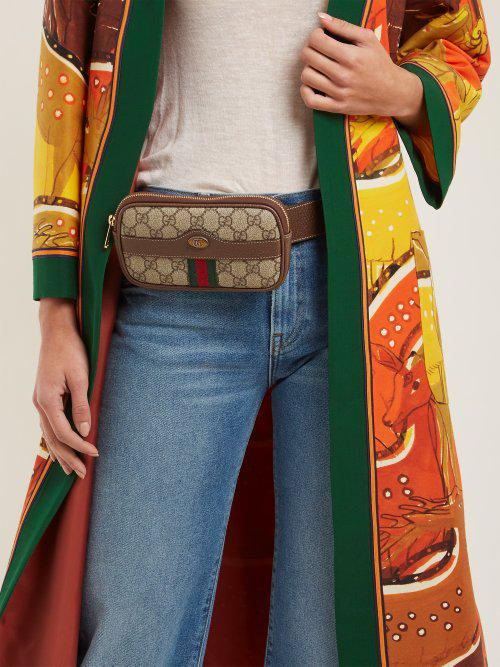 751400b941d Lyst - Gucci Ophidia Small Suede Belt Bag